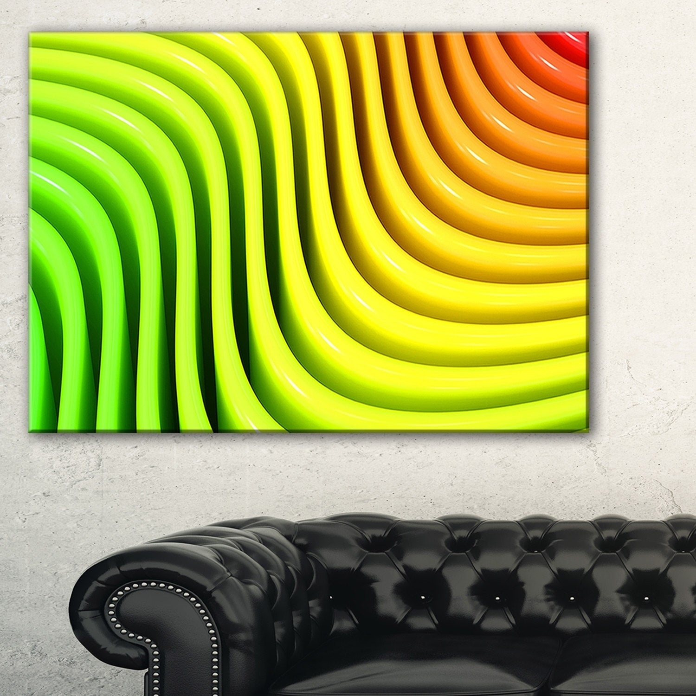 Shop Rainbow Colors Wave - Abstract 3D Digital Art Canvas Print ...