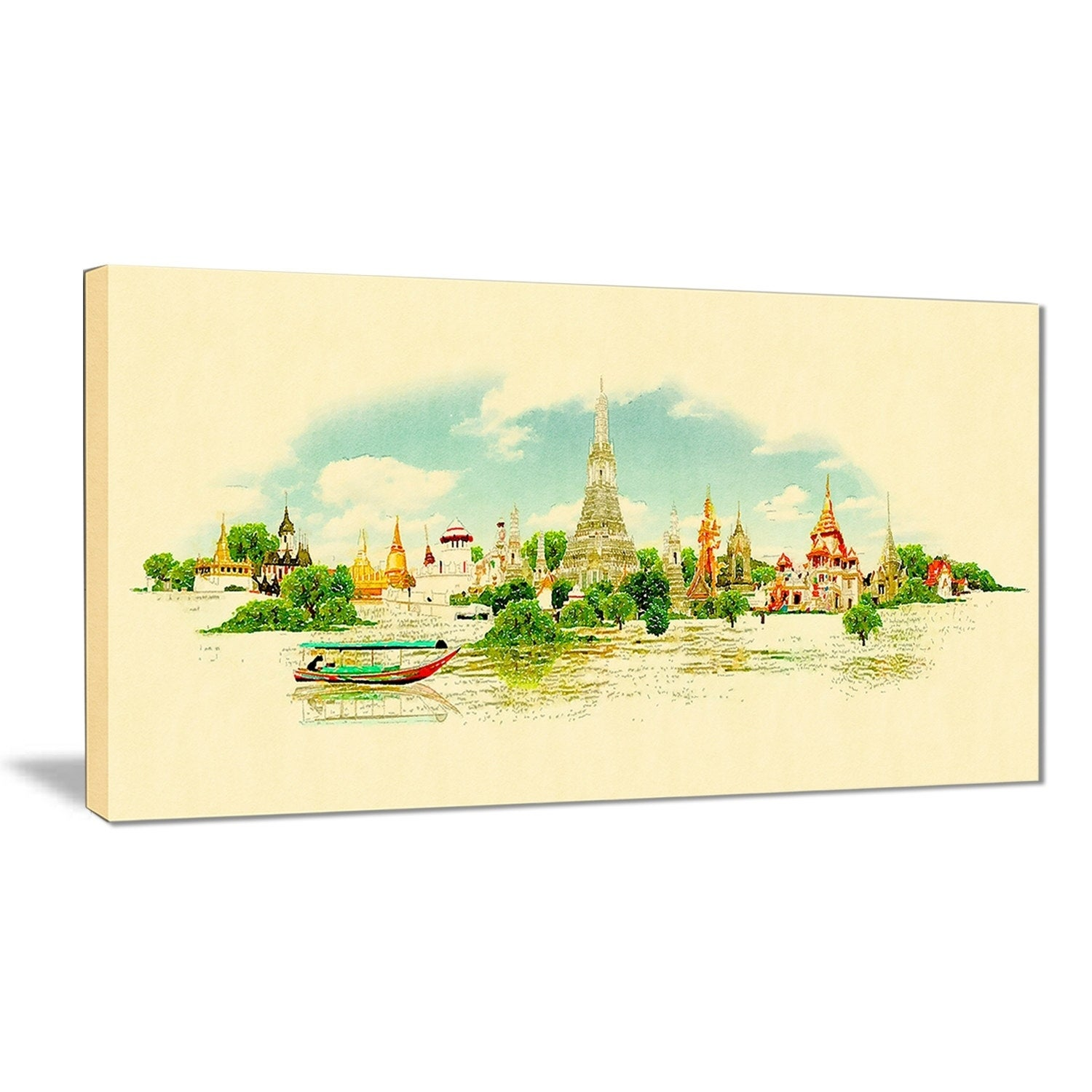 Generous Cityscape Canvas Wall Art Contemporary - The Wall Art ...