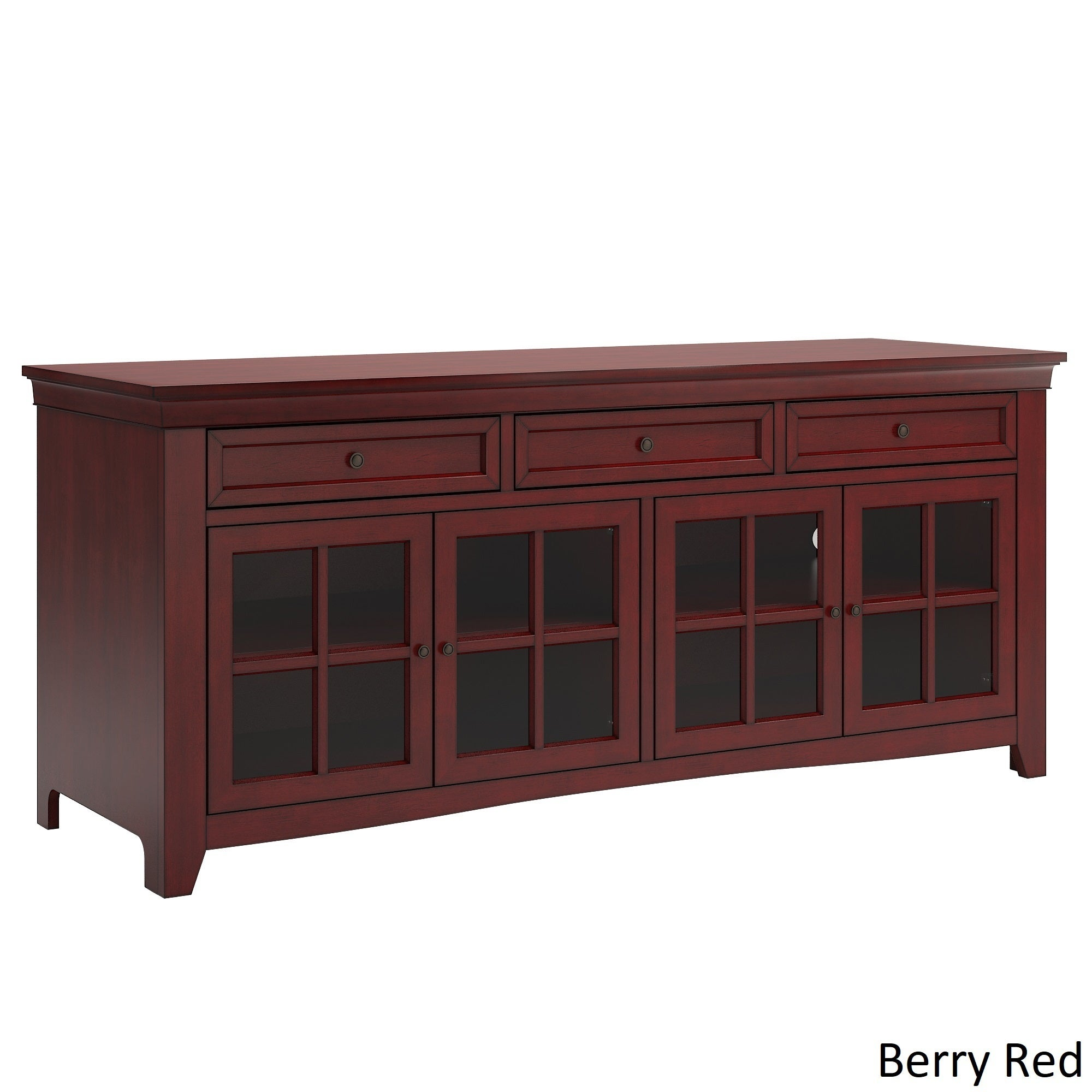Ediline 70 Inch 3 Drawer Console Table Tv Stand With Gl Door And Built In Strip By Inspire Q Clic On Free Shipping Today