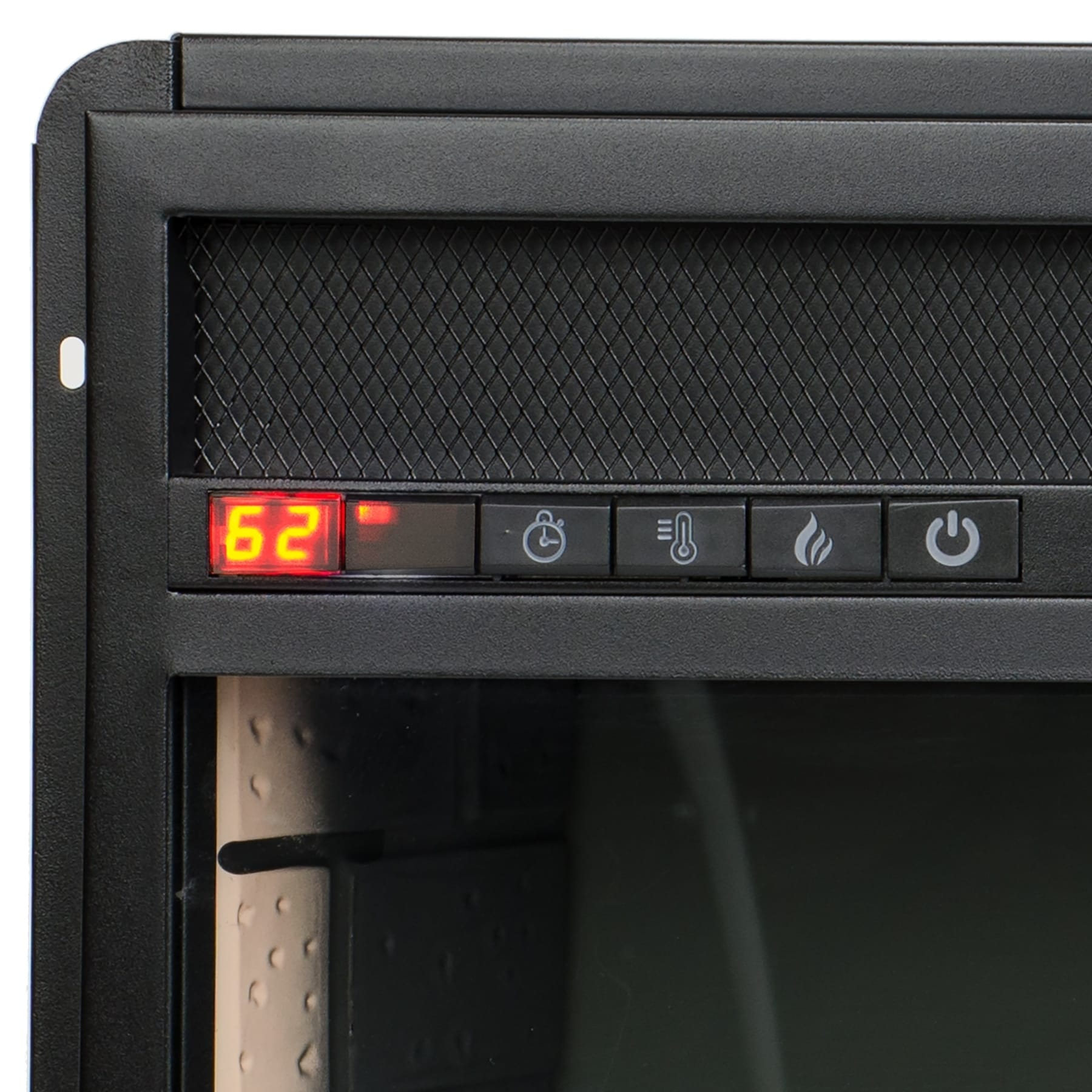 Akdy 23 Black Freestanding Electric Firebox Fireplace Heater Insert With