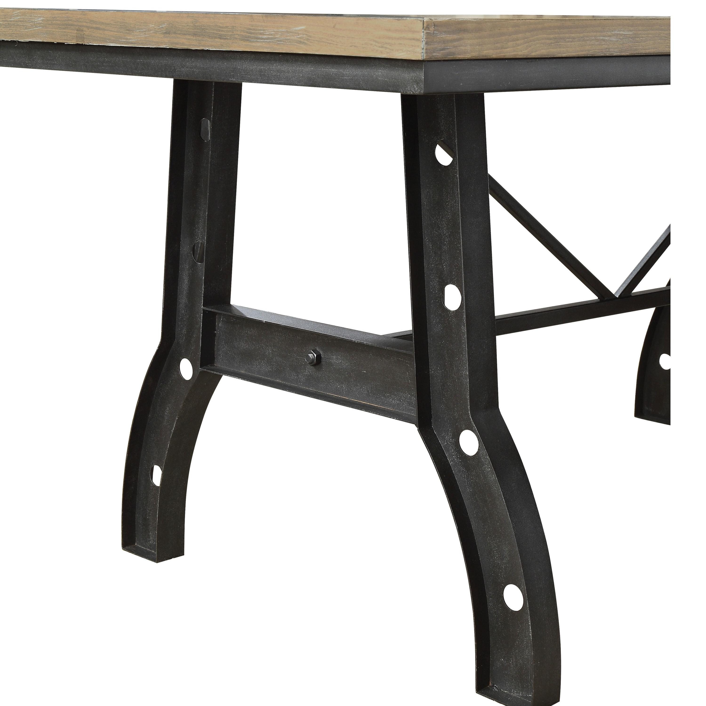 Furniture of America Tallon Industrial Rustic Oak Metal 72 inch