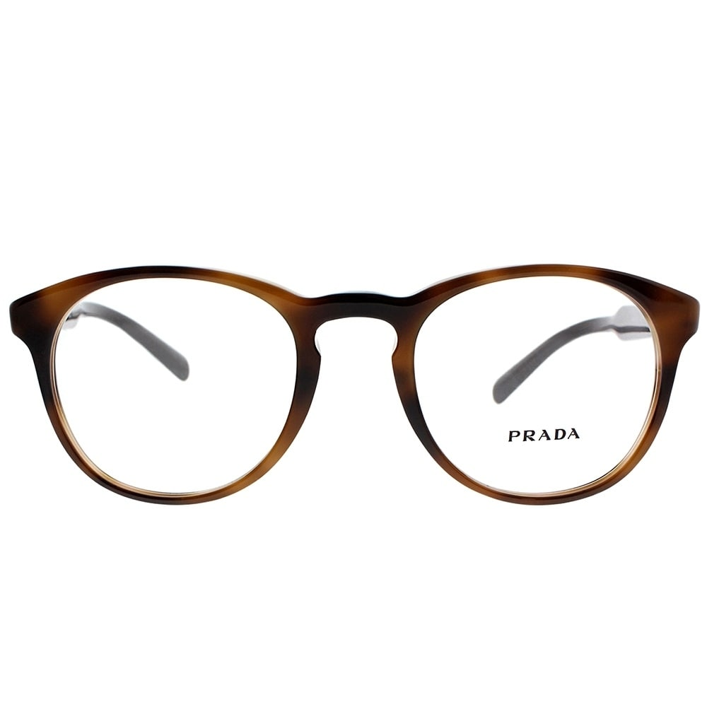 8bcff72959 Shop Prada Round PR 19SV U6J1O1 Unisex Striped Brown Frame Eyeglasses - On  Sale - Free Shipping Today - Overstock - 19834695