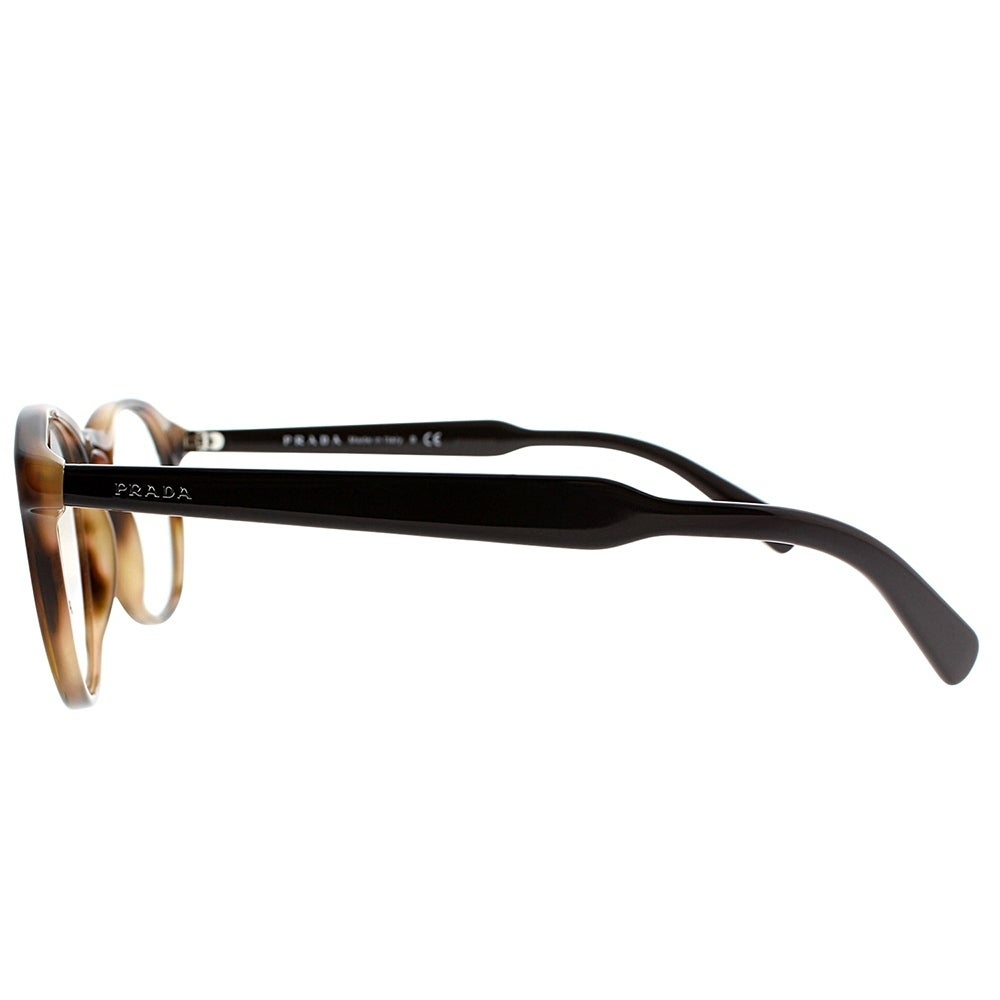 153312ec8db Shop Prada Round PR 19SV U6J1O1 Unisex Striped Brown Frame Eyeglasses - On  Sale - Free Shipping Today - Overstock - 19834695