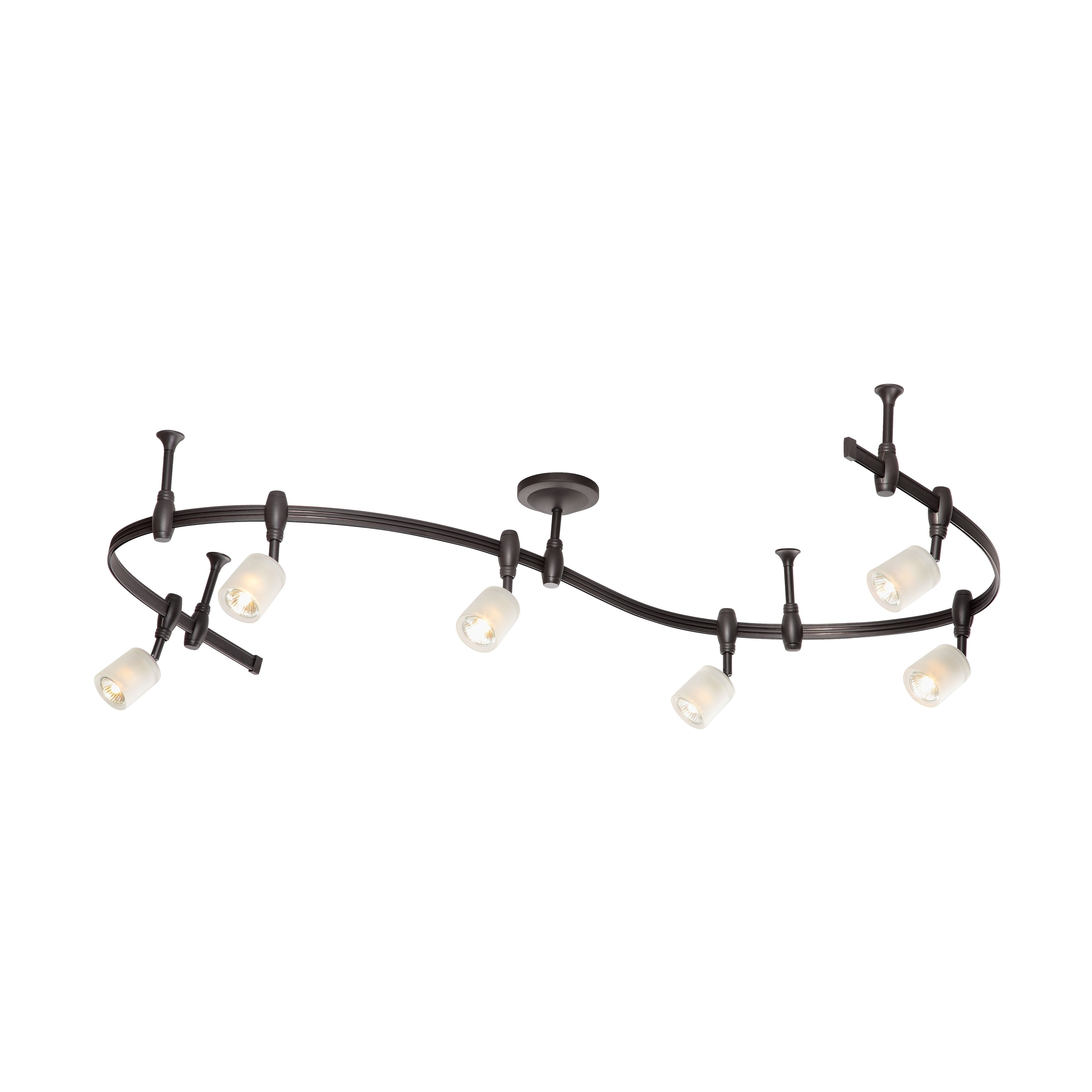 Catalina Lighting Murray 6 Light Bullet Flex Rail Track Kit 19657 000 In Oil Rubbed Bronze Free Shipping Today 19835166