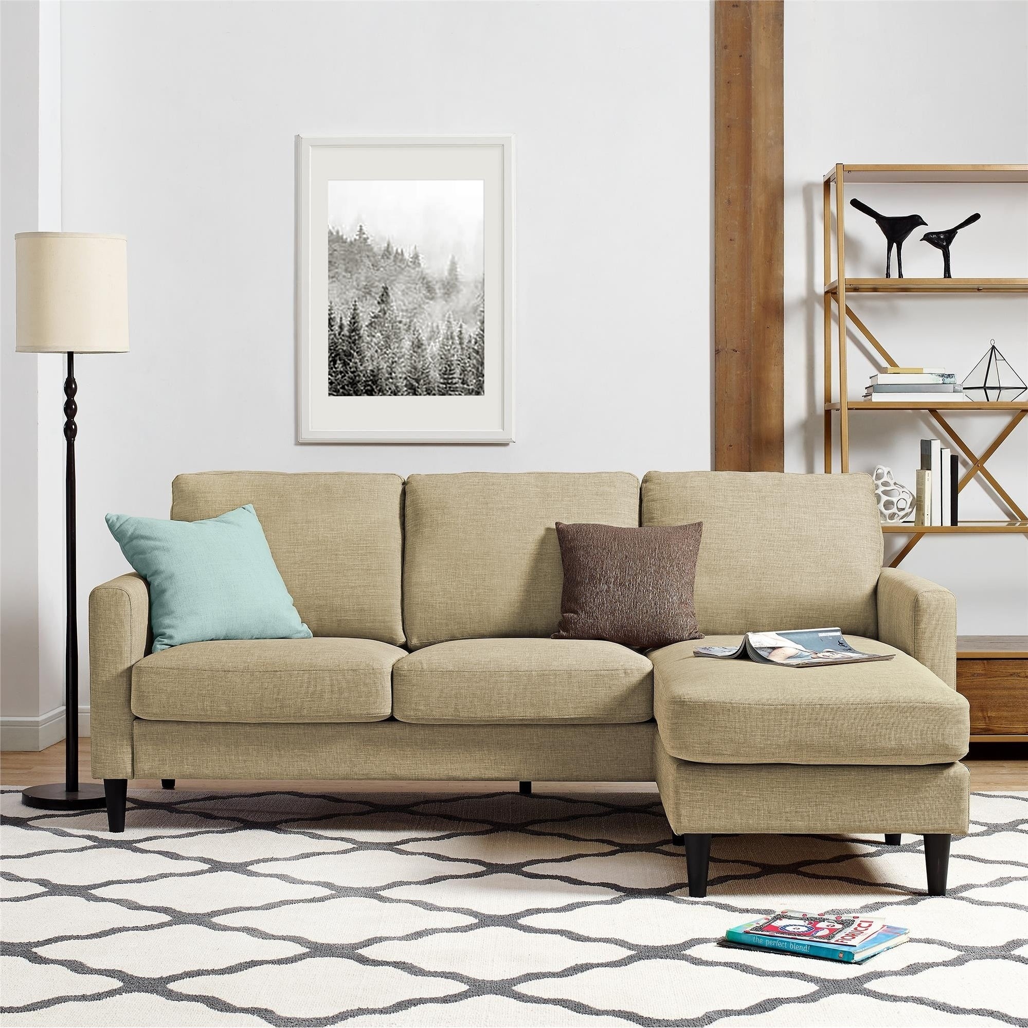 Shop Avenue Greene Rana Beige Sectional - Free Shipping Today ...