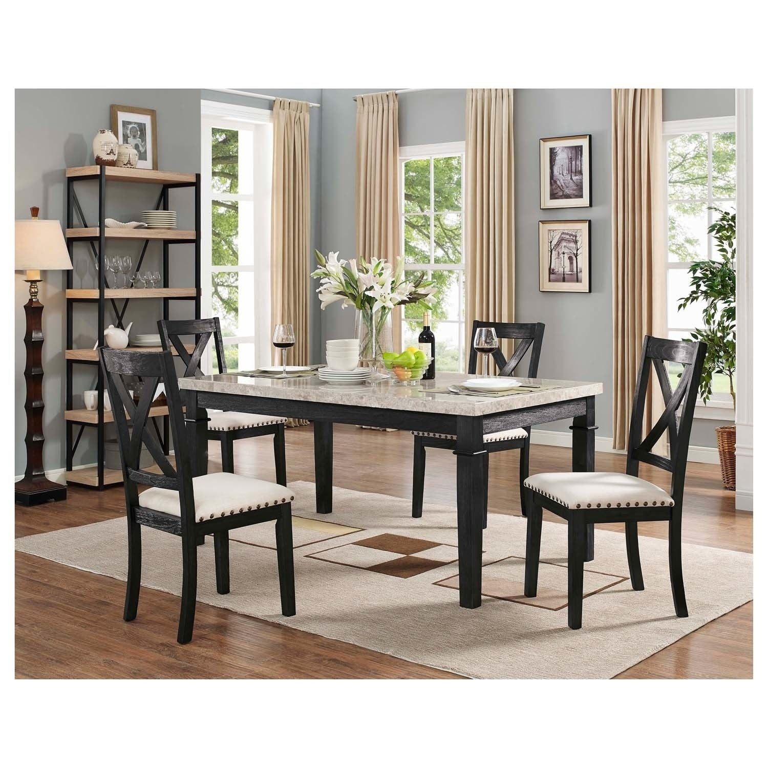 Picket House Furnishings Bradley 5PC Dining Set Table U0026 4 X Back Side Chairs    Free Shipping Today   Overstock   25771106