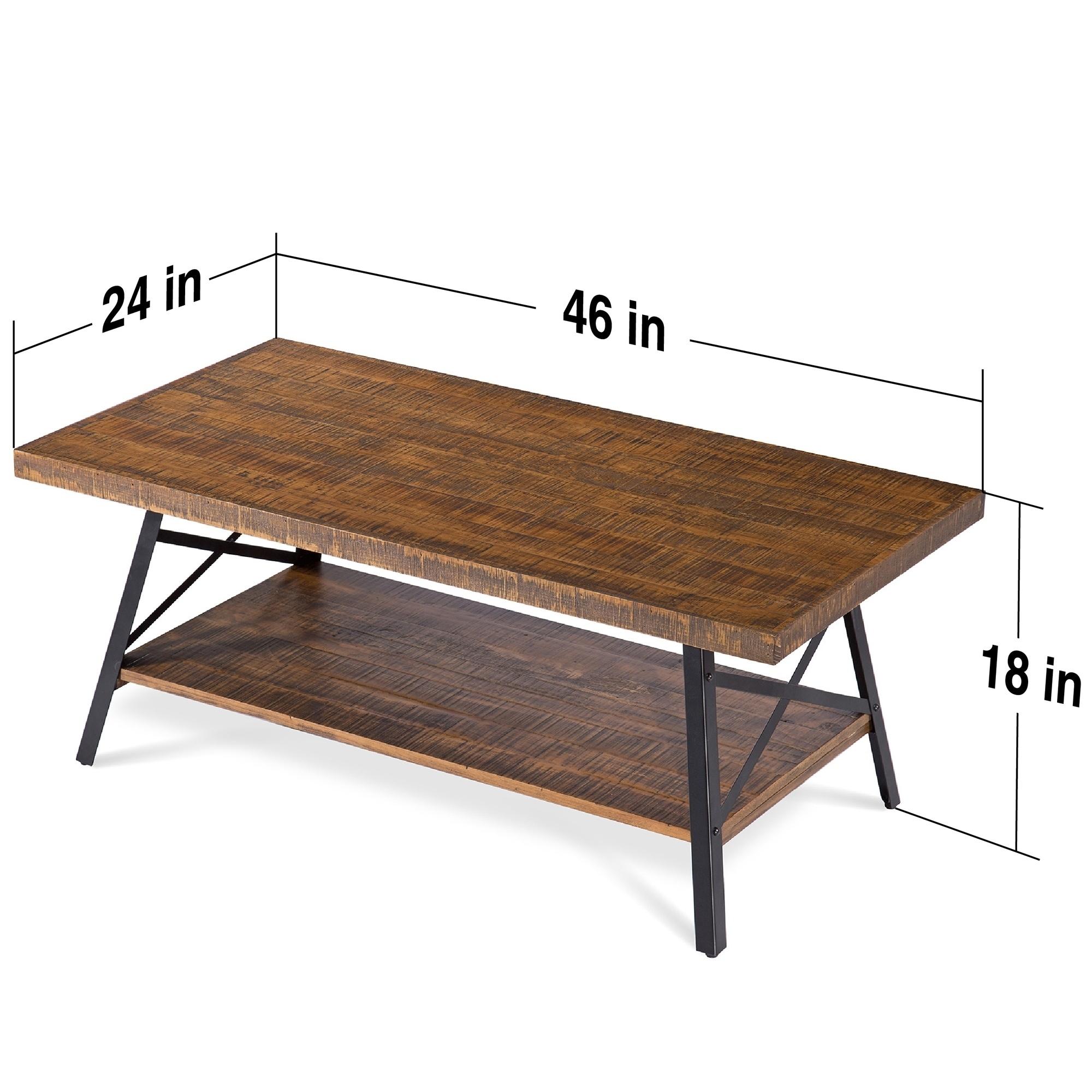 Natural Wood Coffee Table.Carbon Loft Enjolras Wood Steel Coffee Table