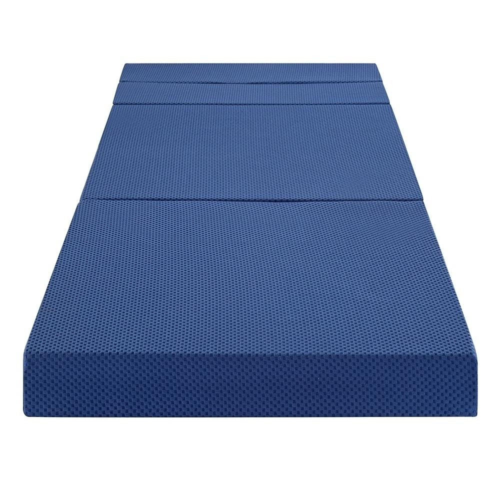 Shop Sleeplanner 4 Inch Tri Fold Memory Foam Mattress Sofa Bed