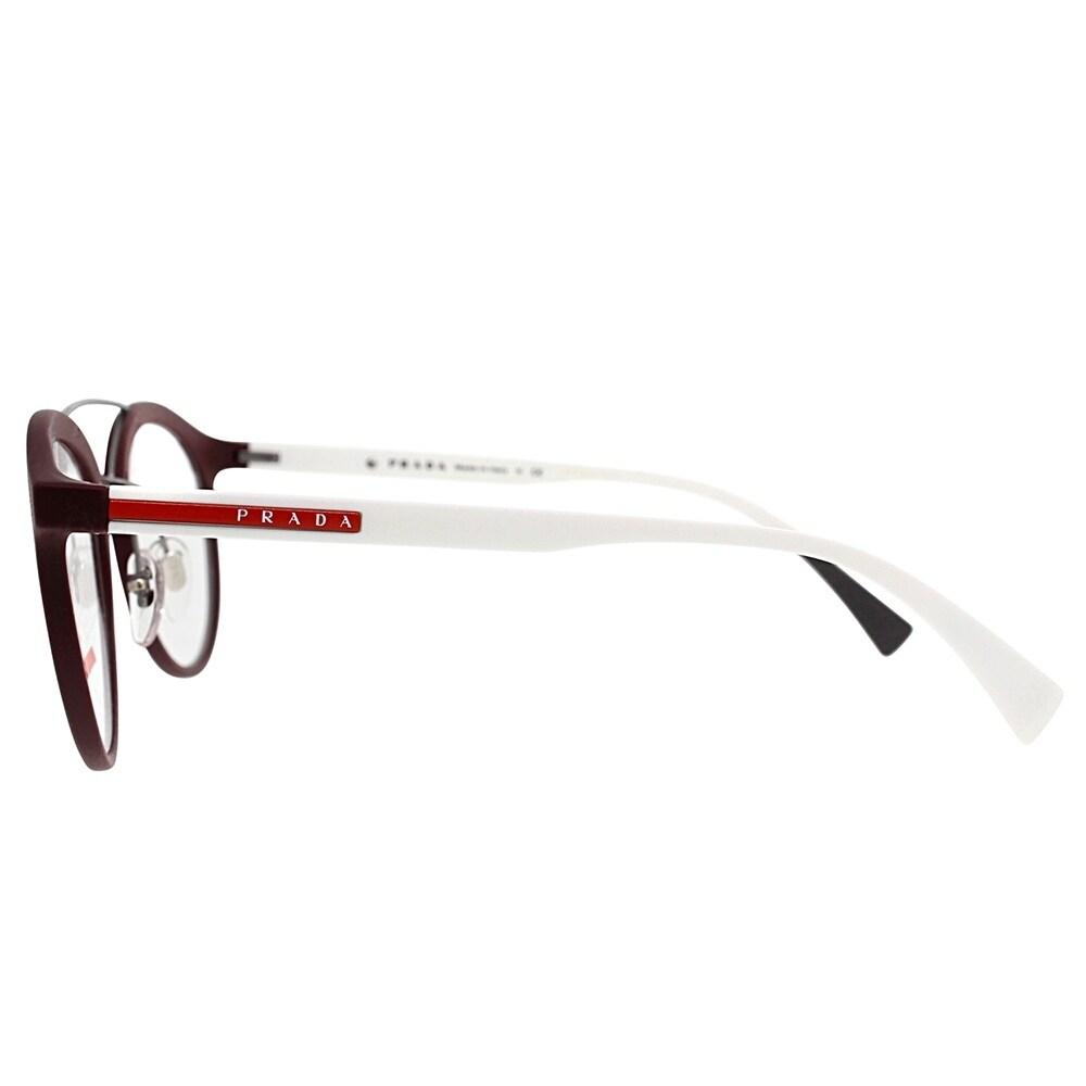 0972f69b50d Shop Prada Linea Rossa Round PS 01HV U601O1 Unisex Bordeaux Rubber Frame  Eyeglasses - Free Shipping Today - Overstock - 19841022