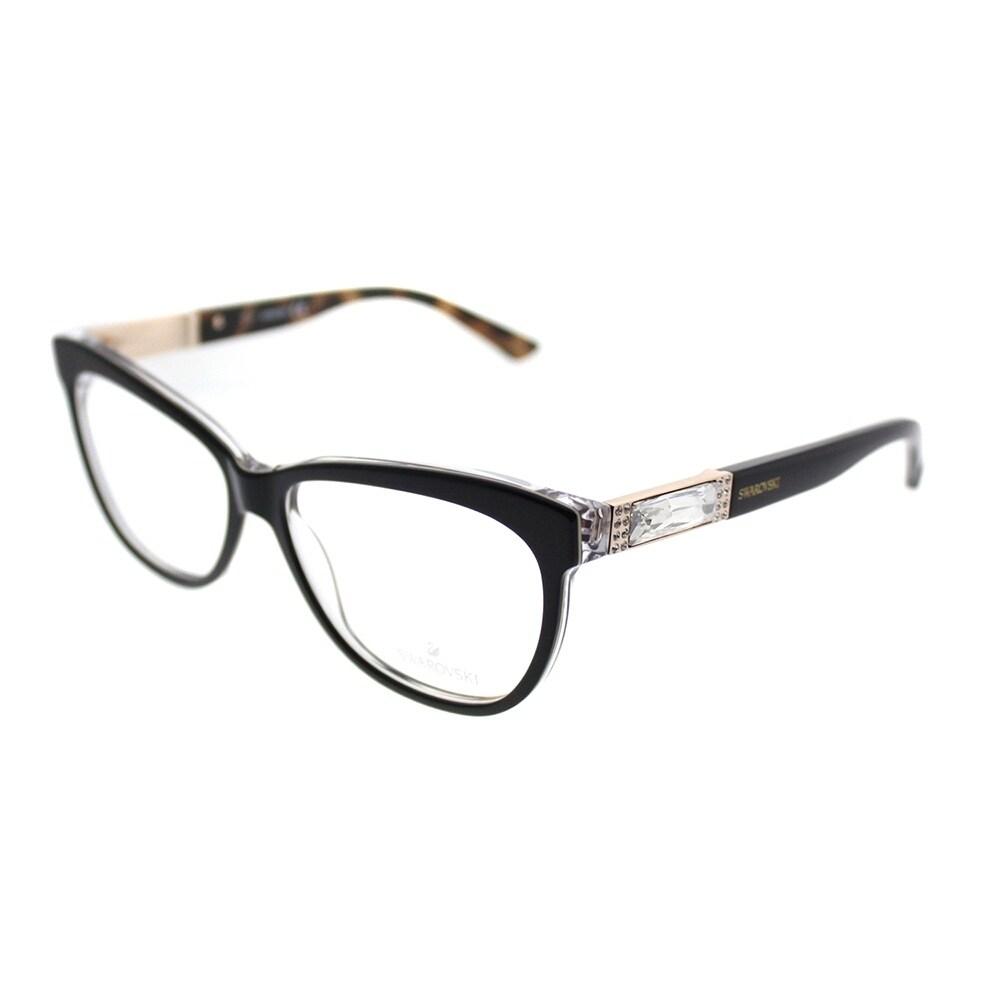 55d0efbe6523 Shop Swarovski Cat-Eye SK 5091 Doris 005 Woman Black Frame Eyeglasses - Free  Shipping Today - Overstock - 19841024