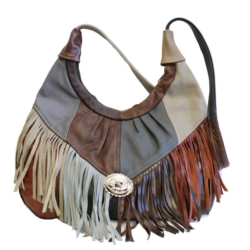 Shop AFONiE Fringe Soft Leather Hobo Handbag - On Sale - Free Shipping Today  - Overstock.com - 19841042 0b402e10e6