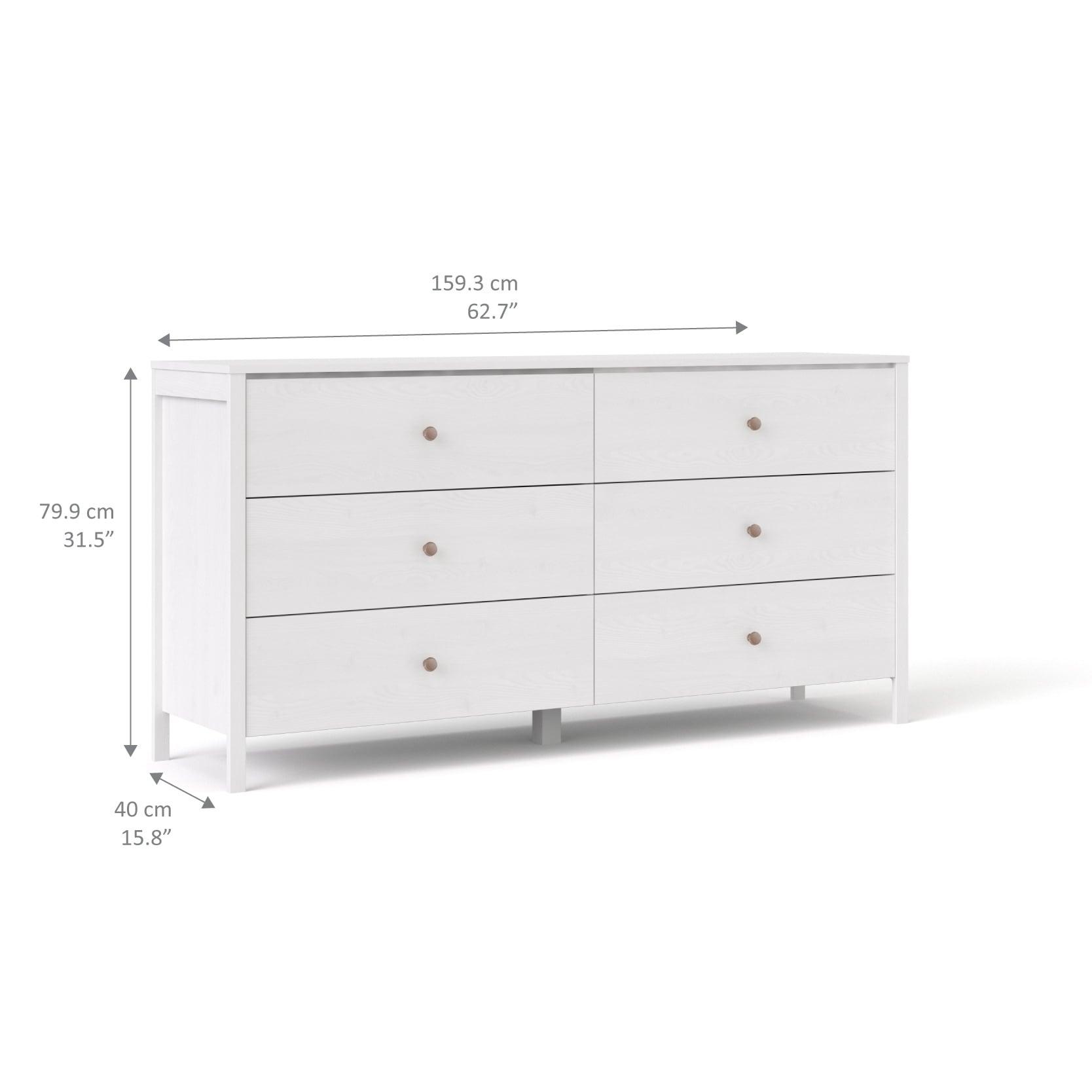 jysk dresser canada drawer brondby white