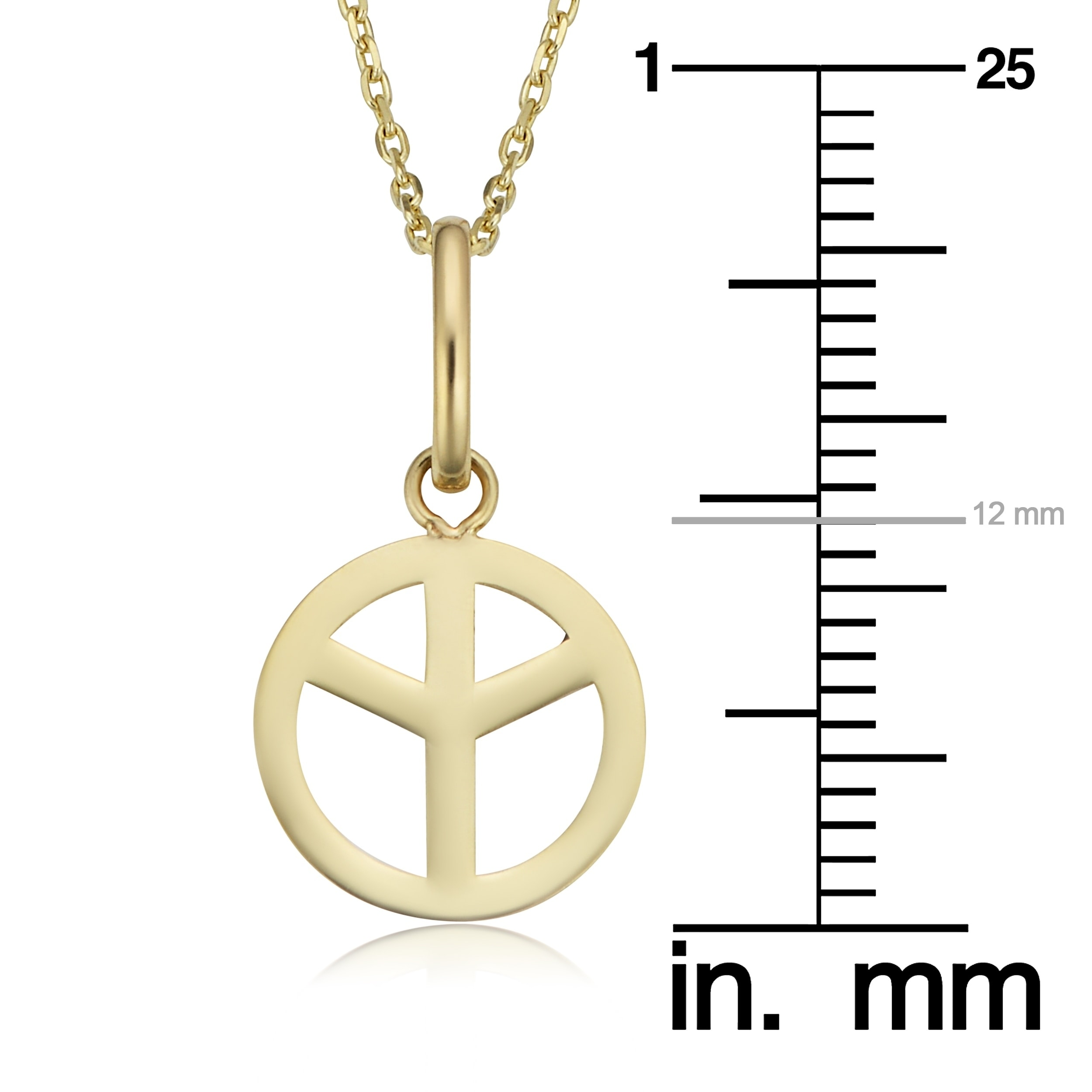 peace sign views led necklace pendant more light off