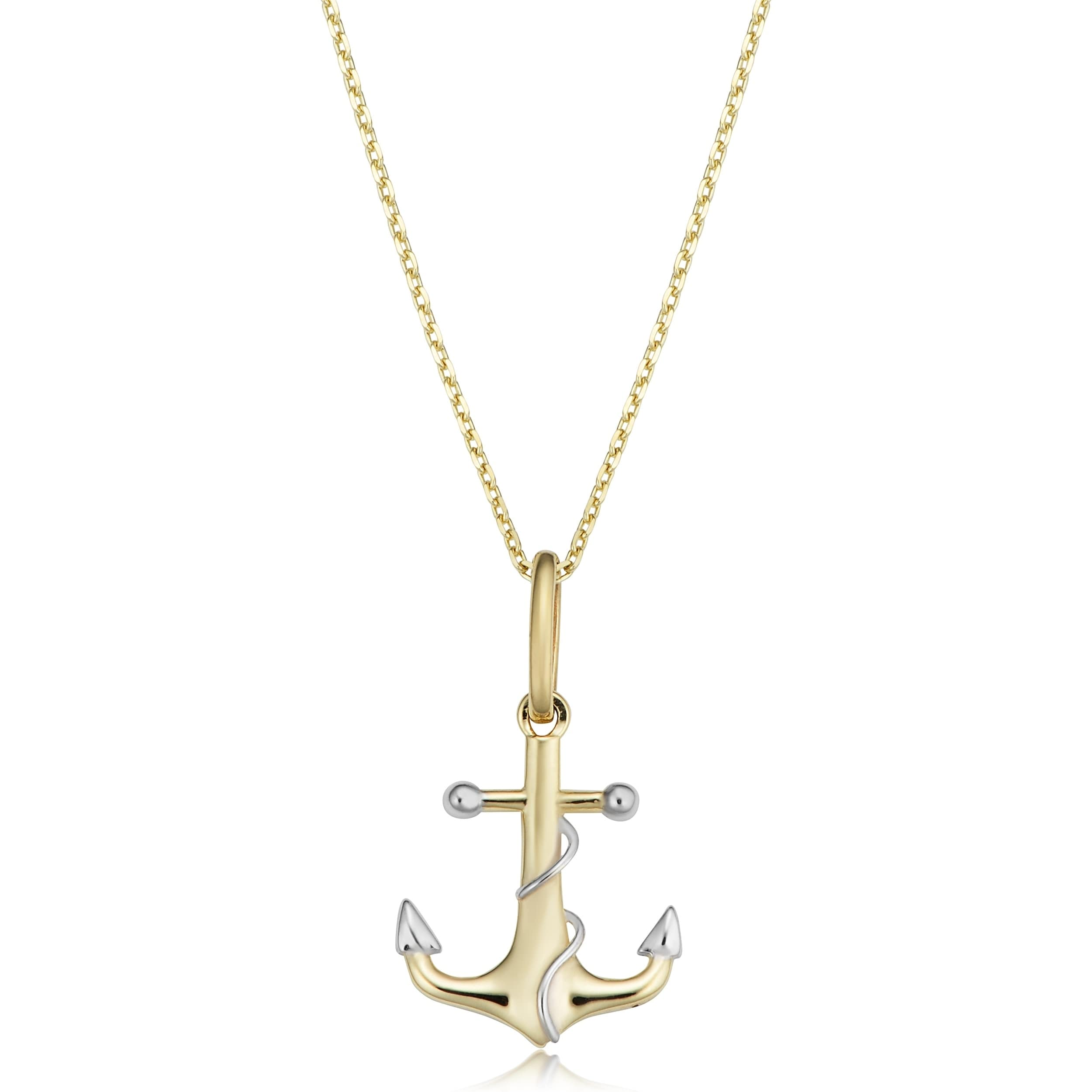 lock key pendant chain cz white an gold with necklace stones layered and inch real anchor products
