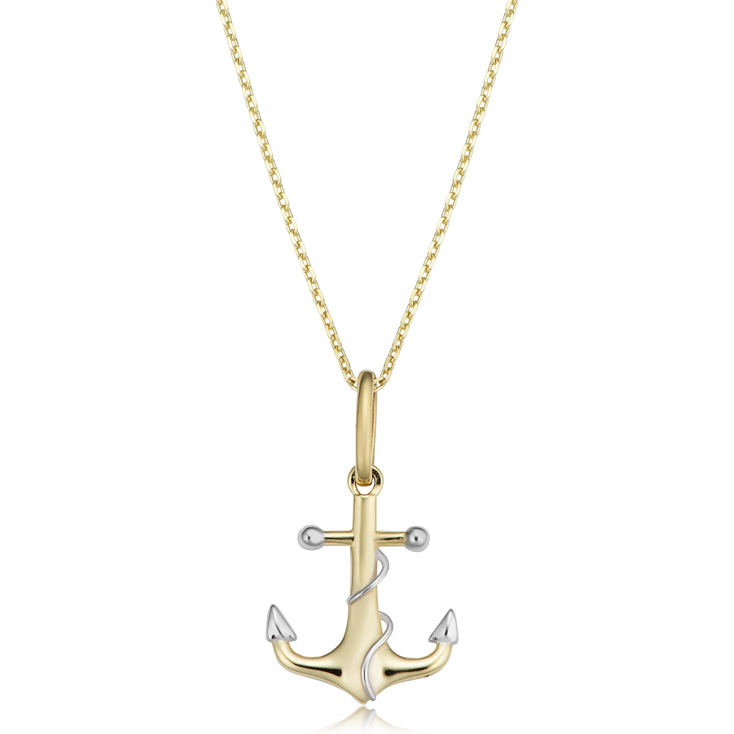 necklace jewellery yellow italy gold anchor made chain tesoro in product online yg imperia buy