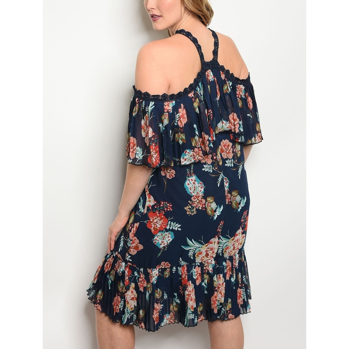 7e2958b9582540 Shop JED Women s Plus Size Floral Halter Floral Tunic Dress - On Sale -  Free Shipping On Orders Over  45 - Overstock.com - 19843761