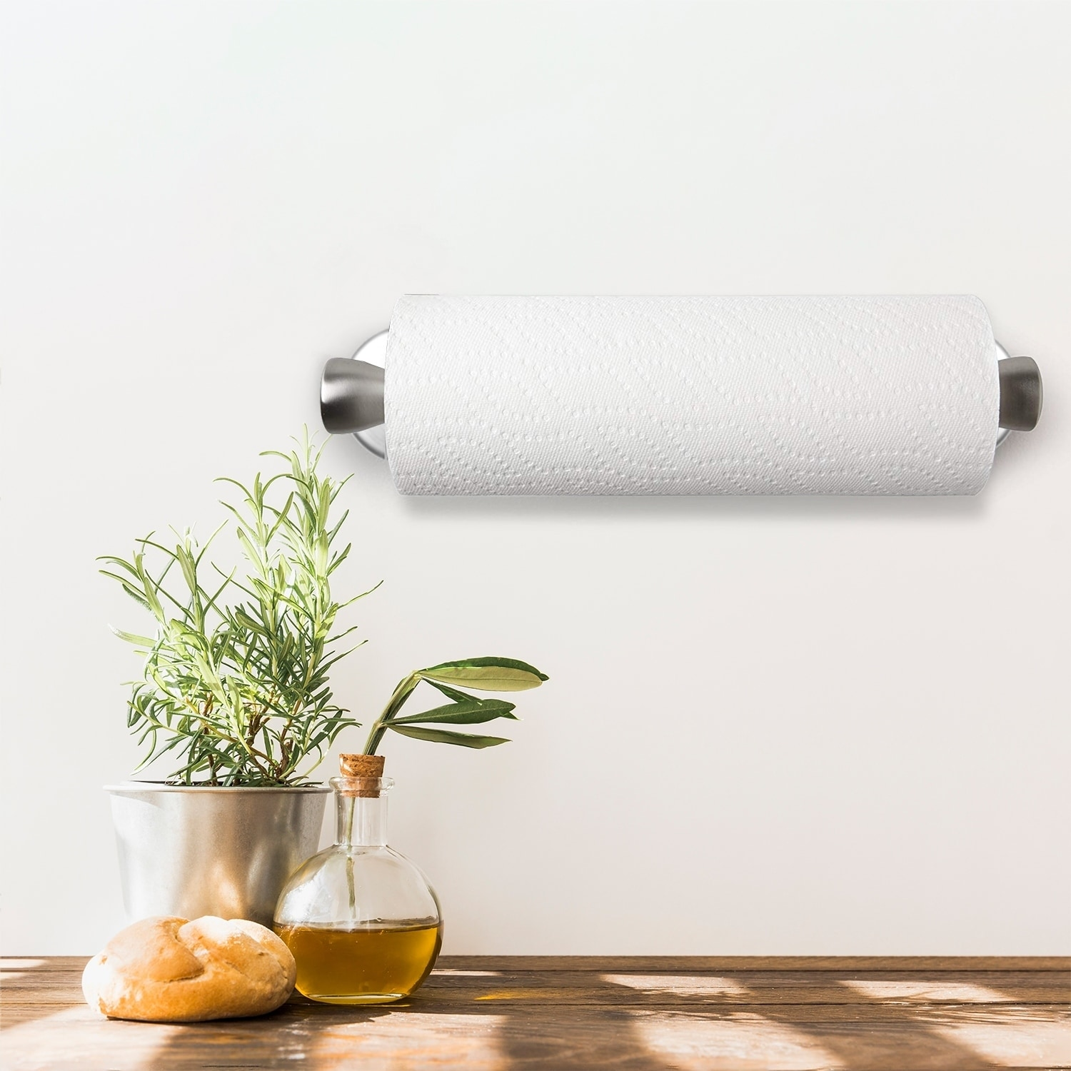 Home Improvement Hot Sale Automatic Paper Towel Holder Smart Dispenser Mounts Under Cabinets For Home And Office Use Stainless Steel Finish