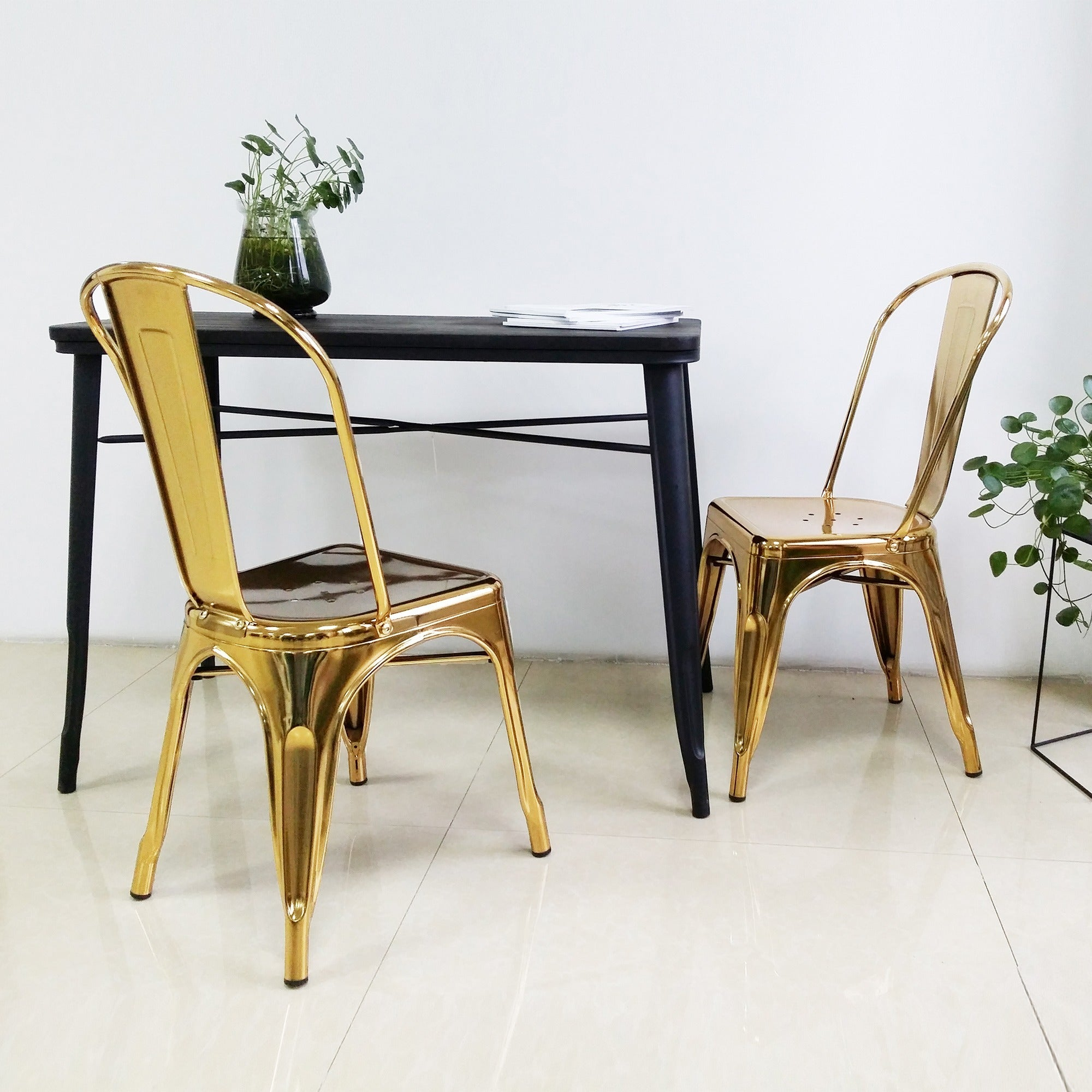Chelsea Gold Metal Dining Chair Set Of 4 On Free Shipping Today 19851954