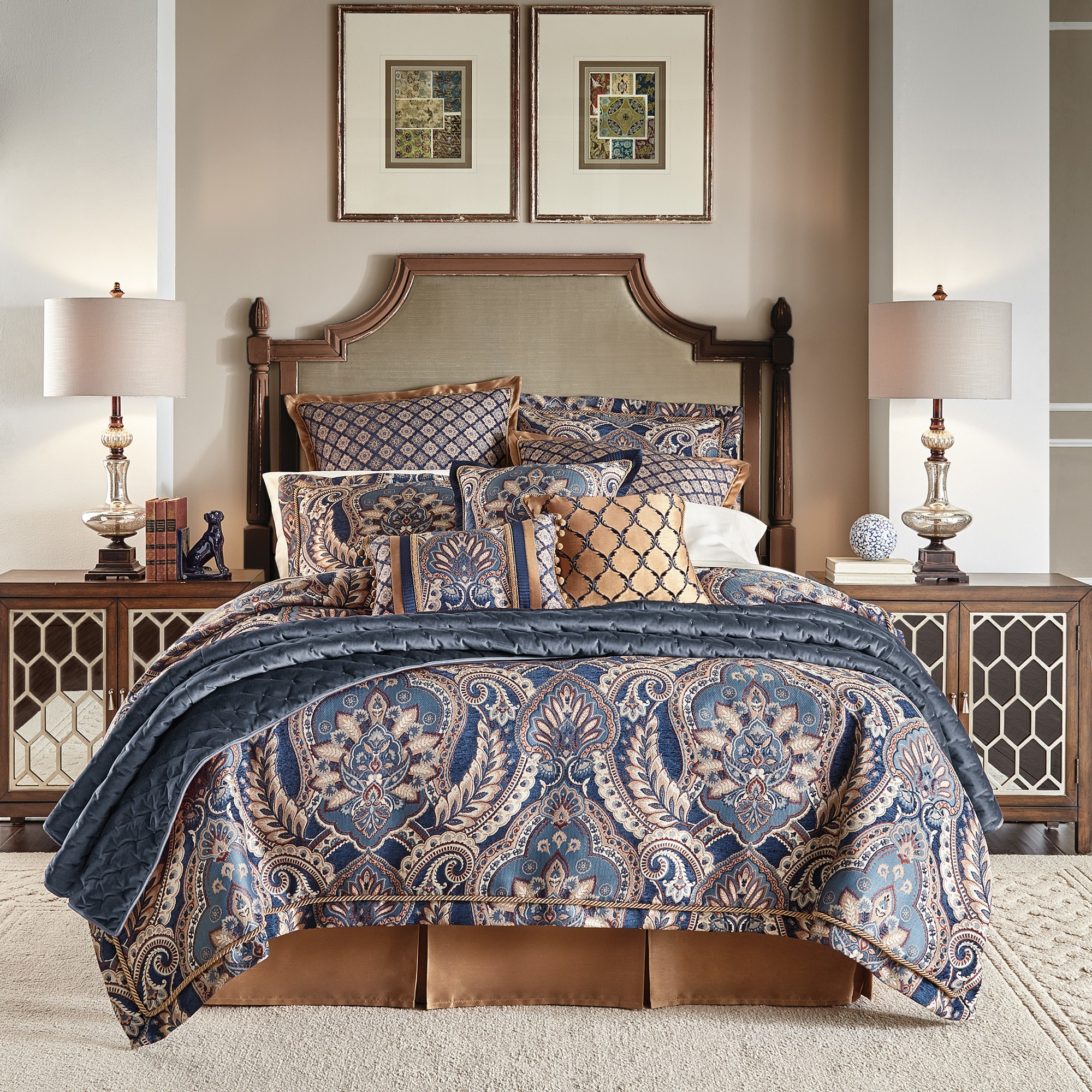 sets comforter free set shipping croscill overstock coastal yachtsman bedding home product print bath today piece