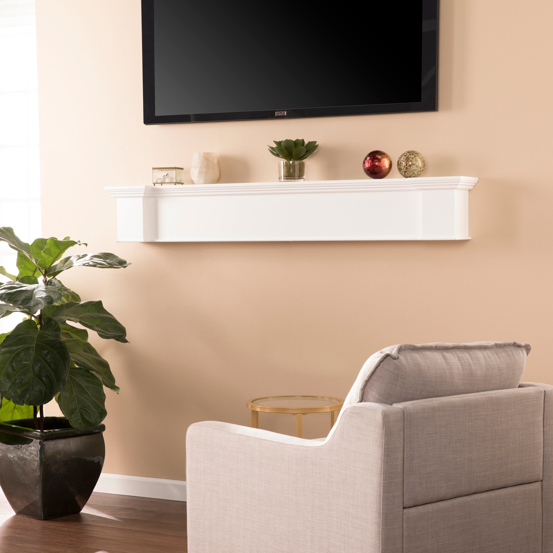 Oliver James Fritz White Fireplace Mantel Shelf On Free Shipping Today 20882045