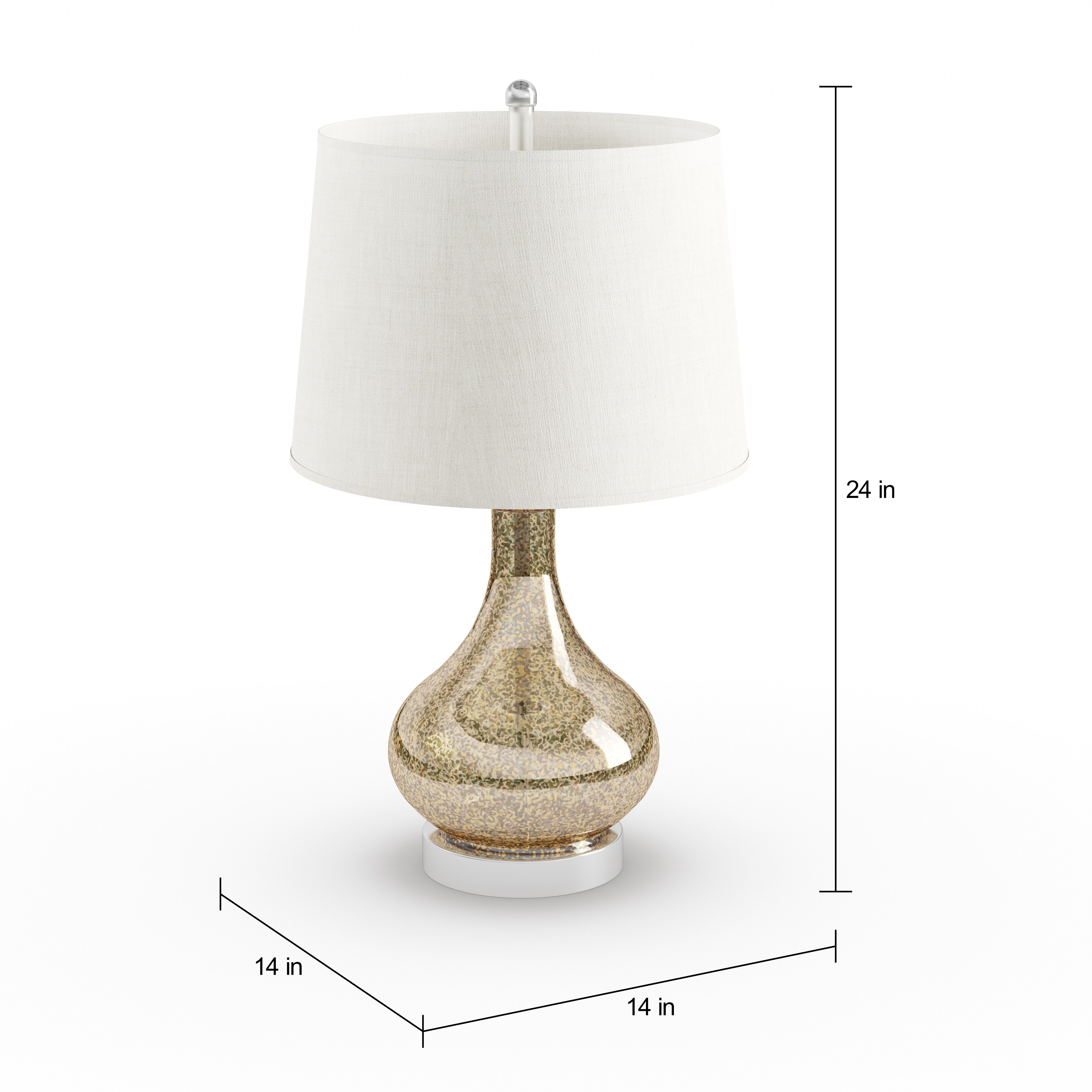 Shop palm canyon escena gold mercury glass and beige linen drum shop palm canyon escena gold mercury glass and beige linen drum shade 24 inch gourd table lamp free shipping today overstock 19856315 aloadofball Images