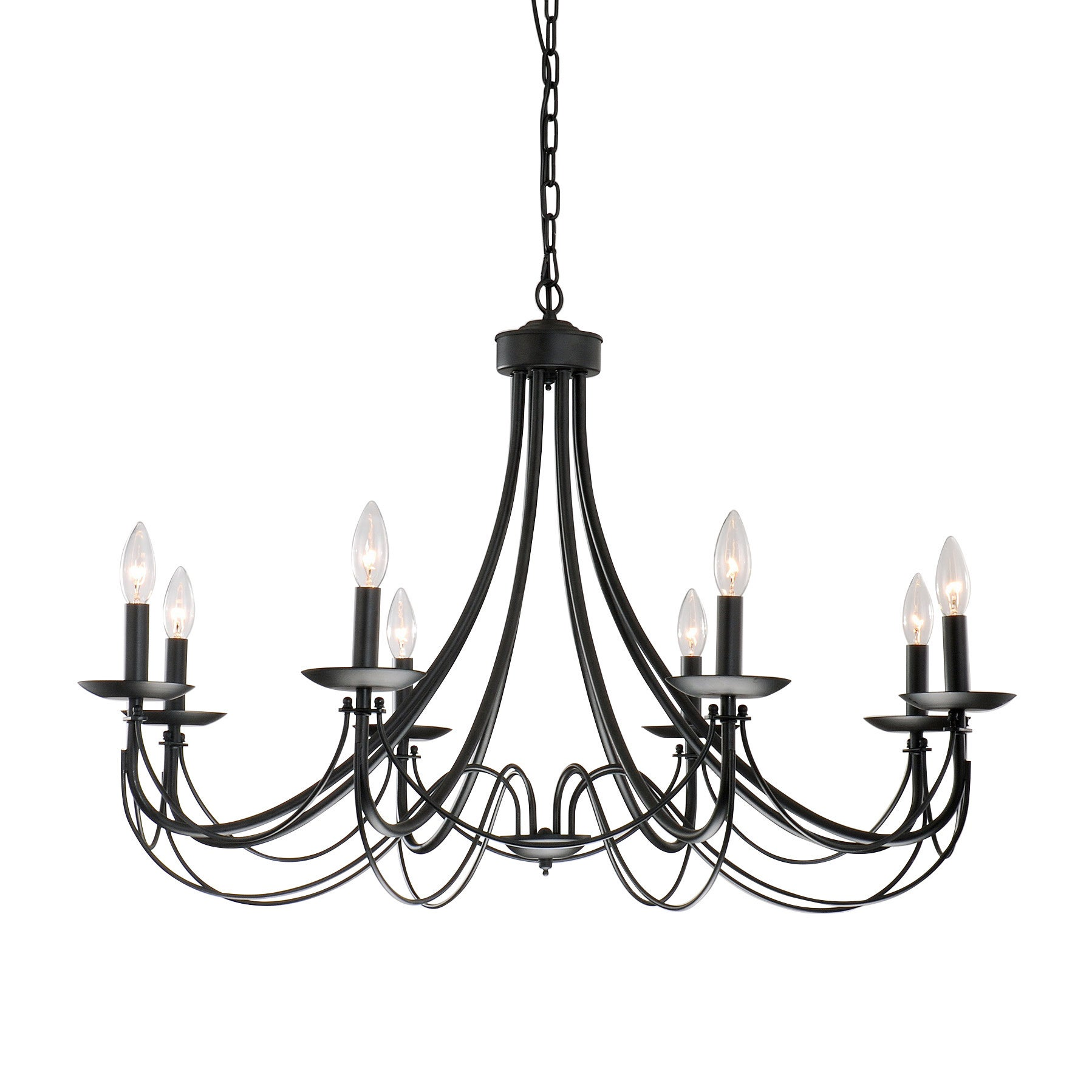 The gray barn calloway hill iron 8 light black chandelier