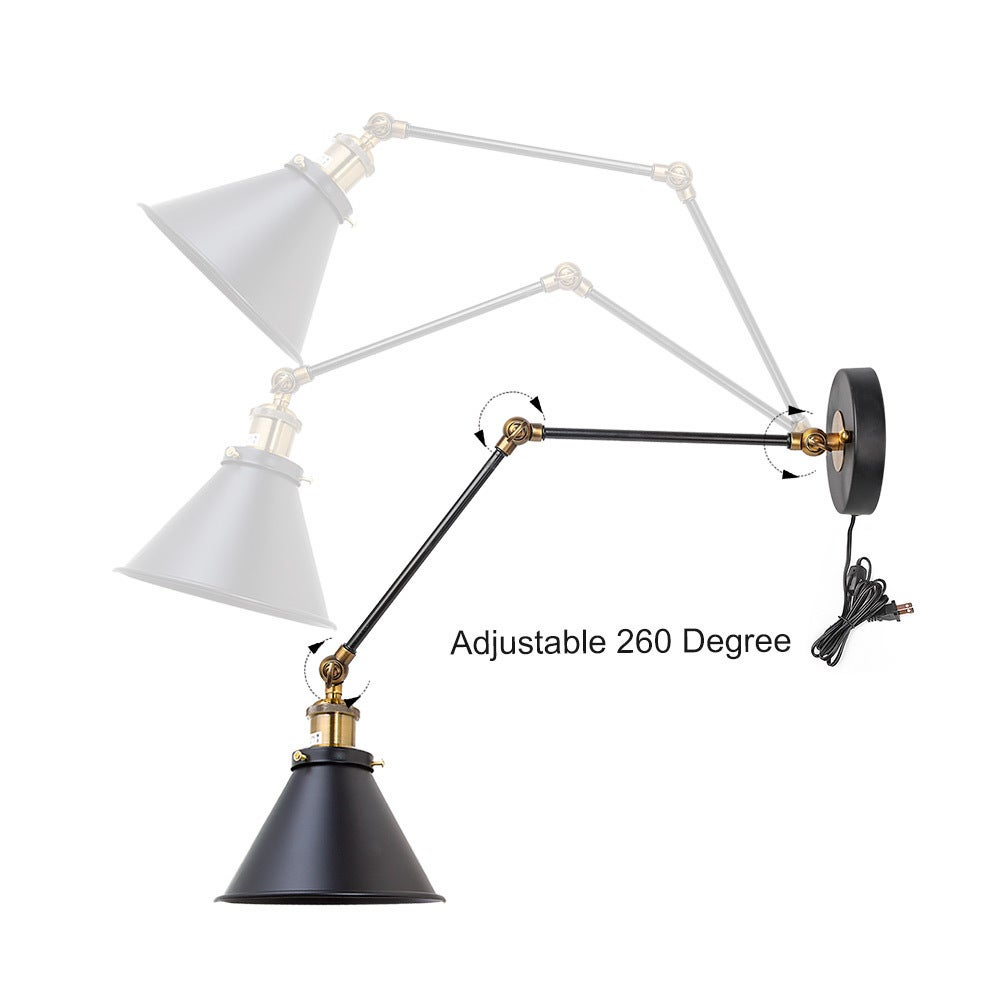Shop LNC Black Wall Lamp Adjustable Wall Sconces Plug In Sconces Wall  Lighting   Free Shipping Today   Overstock.com   19856591