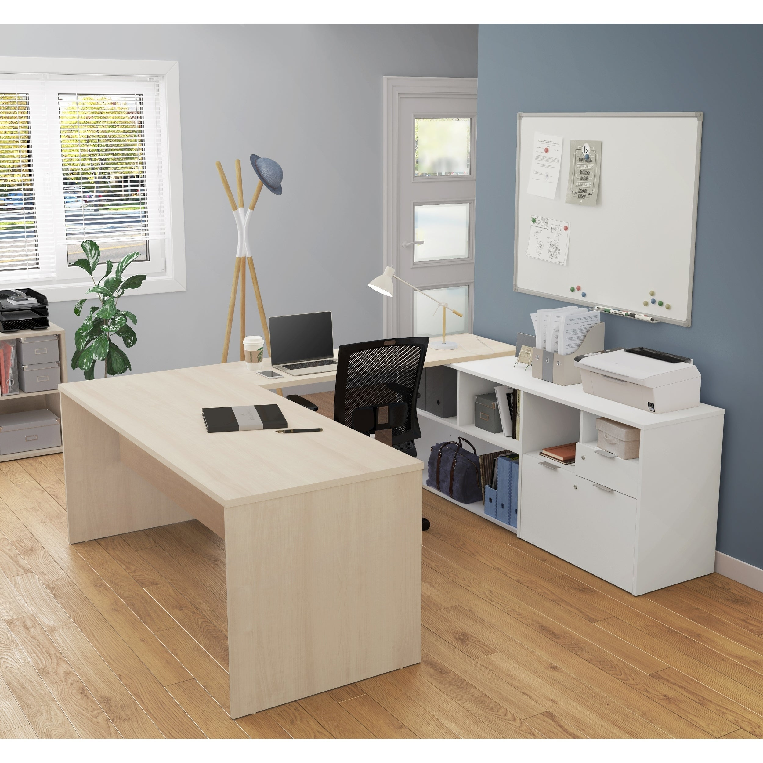 Bestar i3 Plus U Desk with Two Drawers Free Shipping Today