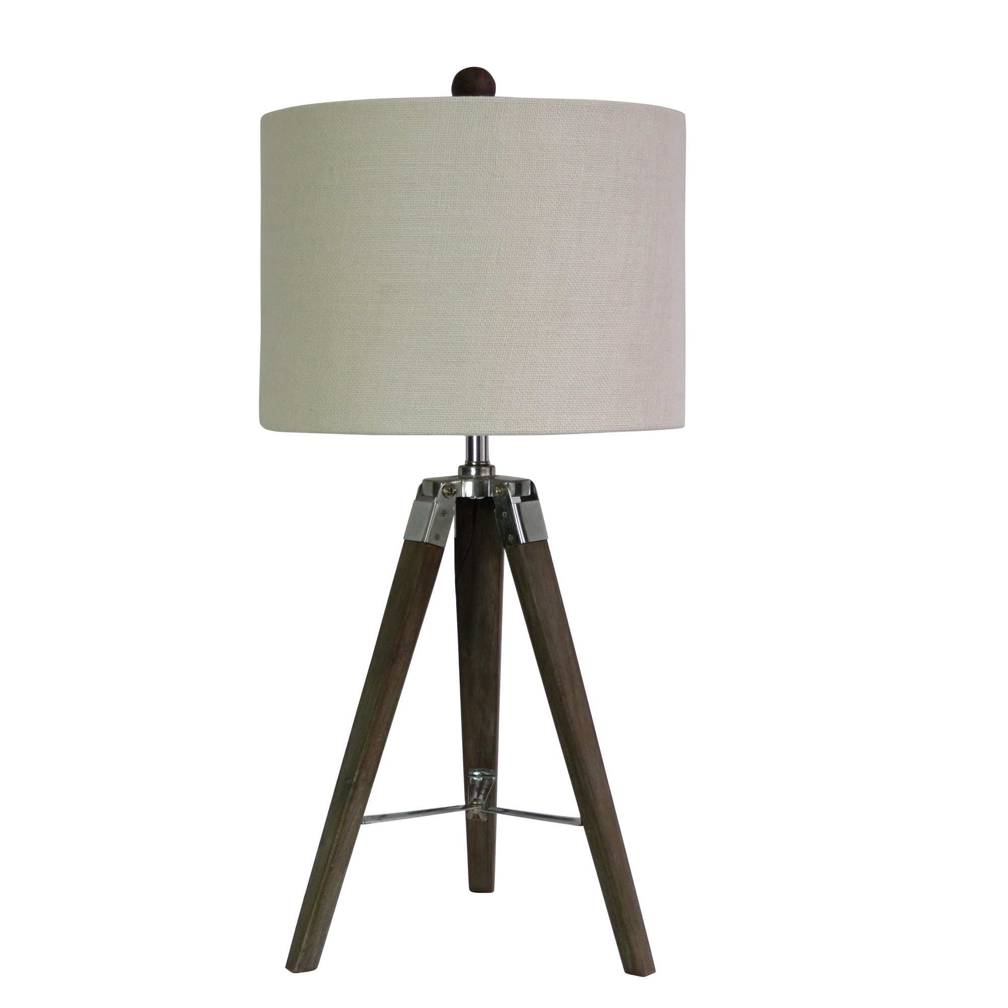 Shop Fangio Lighting S 2025sil 28 Weathered Grey Wood Tripod Table