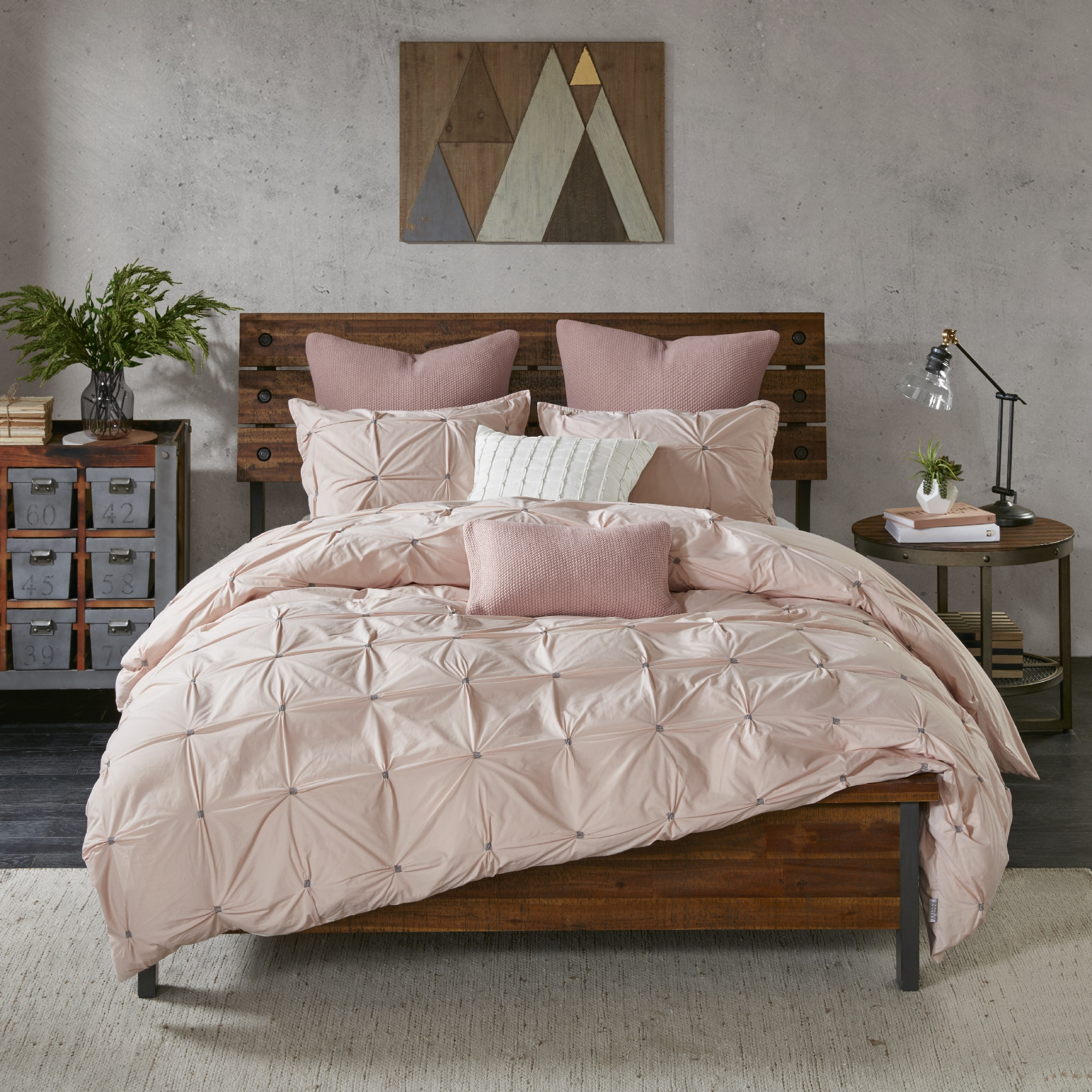 onceit linen products waffle quilt king set blush cover cotton bedding bed duvet