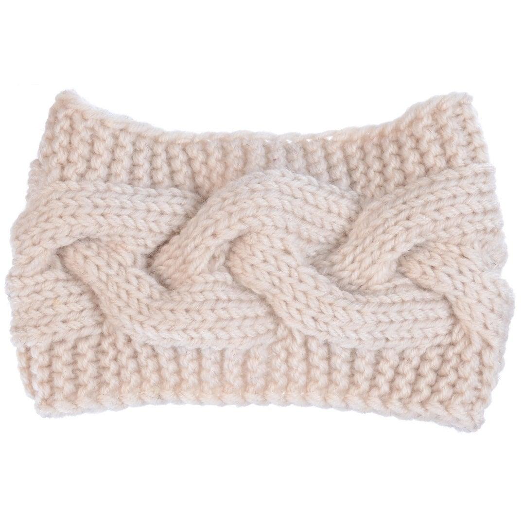 BYOS Womens Fashion Winter Cable Crochet Knit Headband With ...