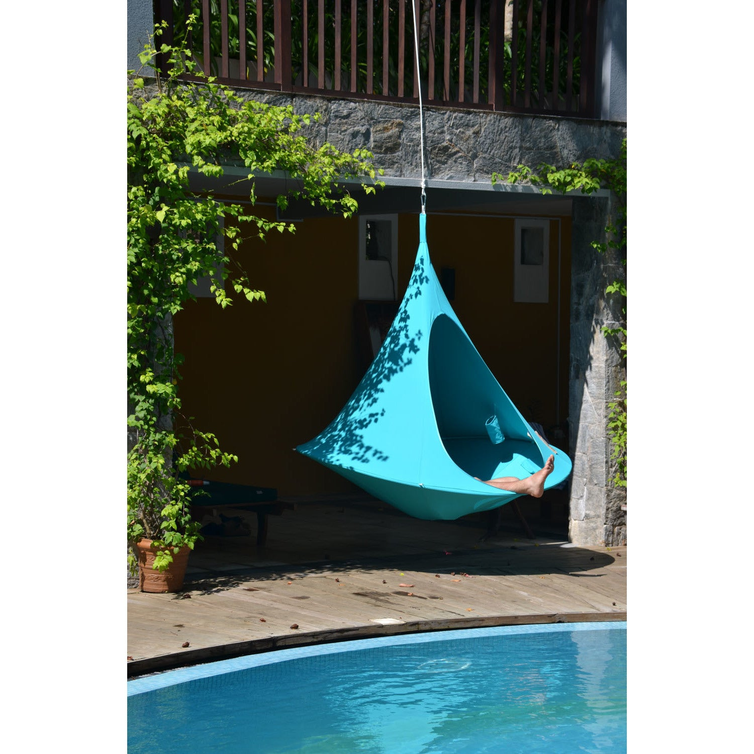 Superb Vivere Home Garden Double Cacoon Hanging Chair   Free Shipping Today    Overstock   25803042