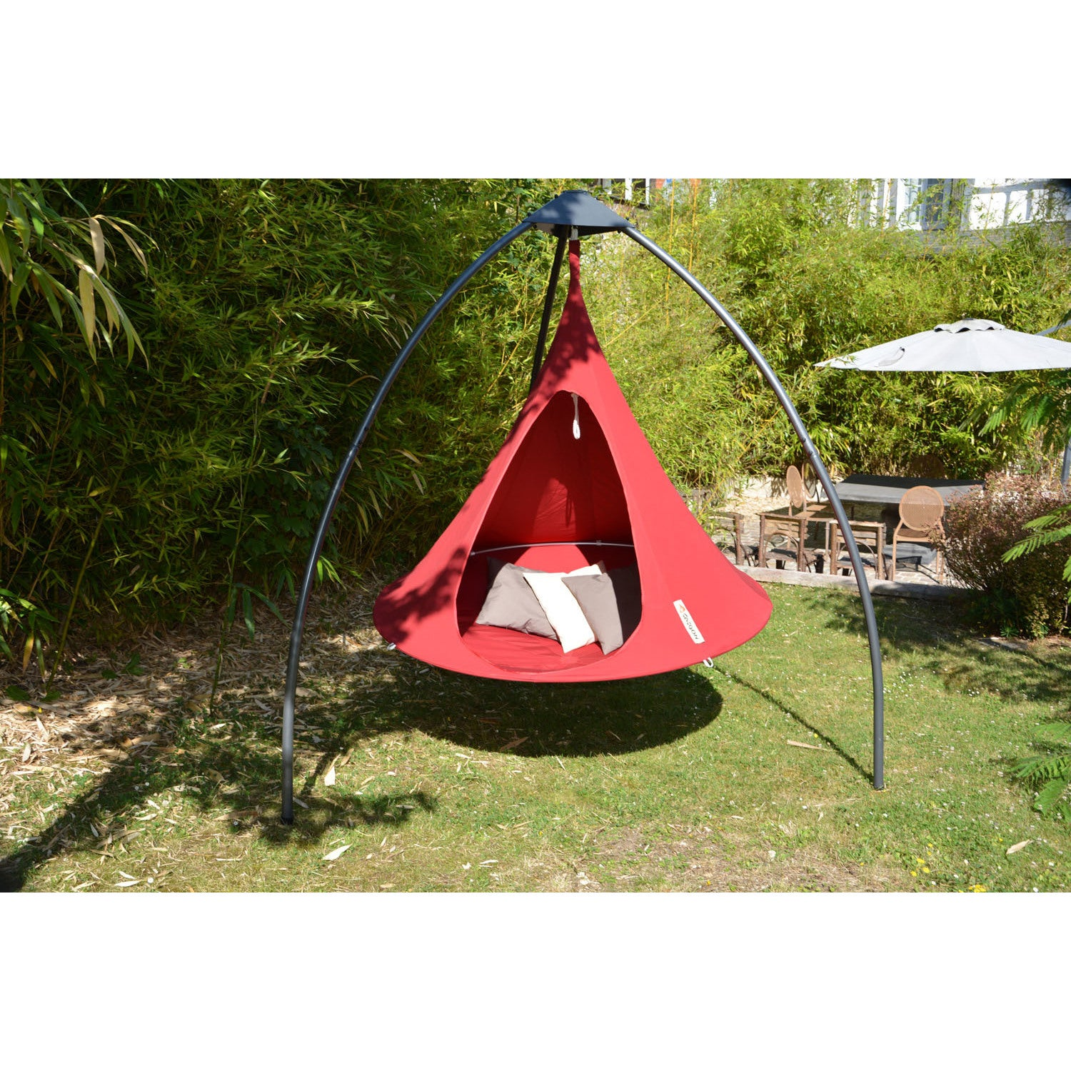 Vivere Home Garden Double Cacoon Hanging Chair   Free Shipping Today    Overstock   25803042