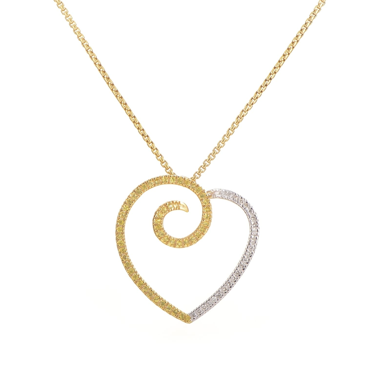 i diamond pendantneck white necklace gold and pendant neck yellow sapphire