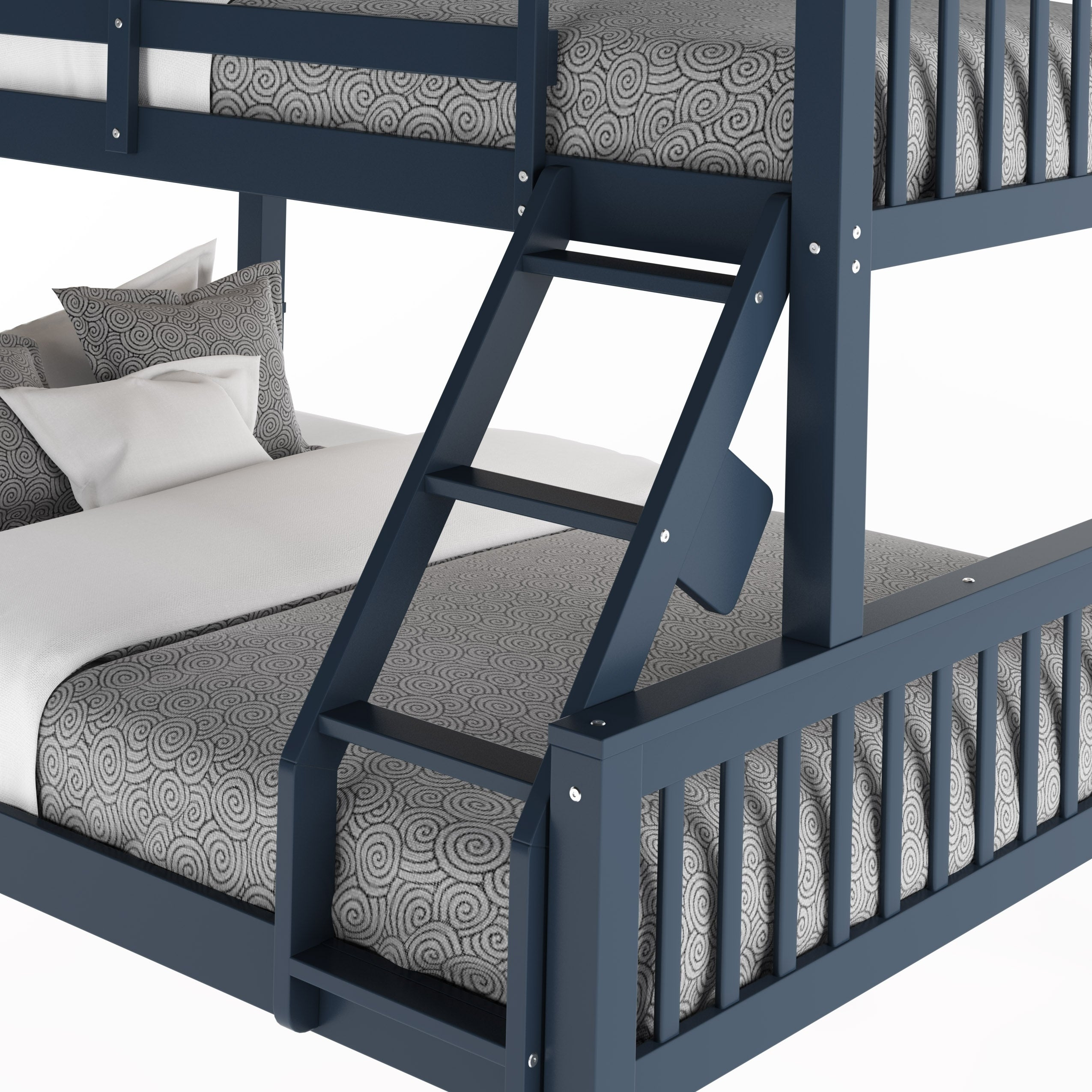 Shop Corliving Dakota Twin Single Over Full Double Bunk Bed Free