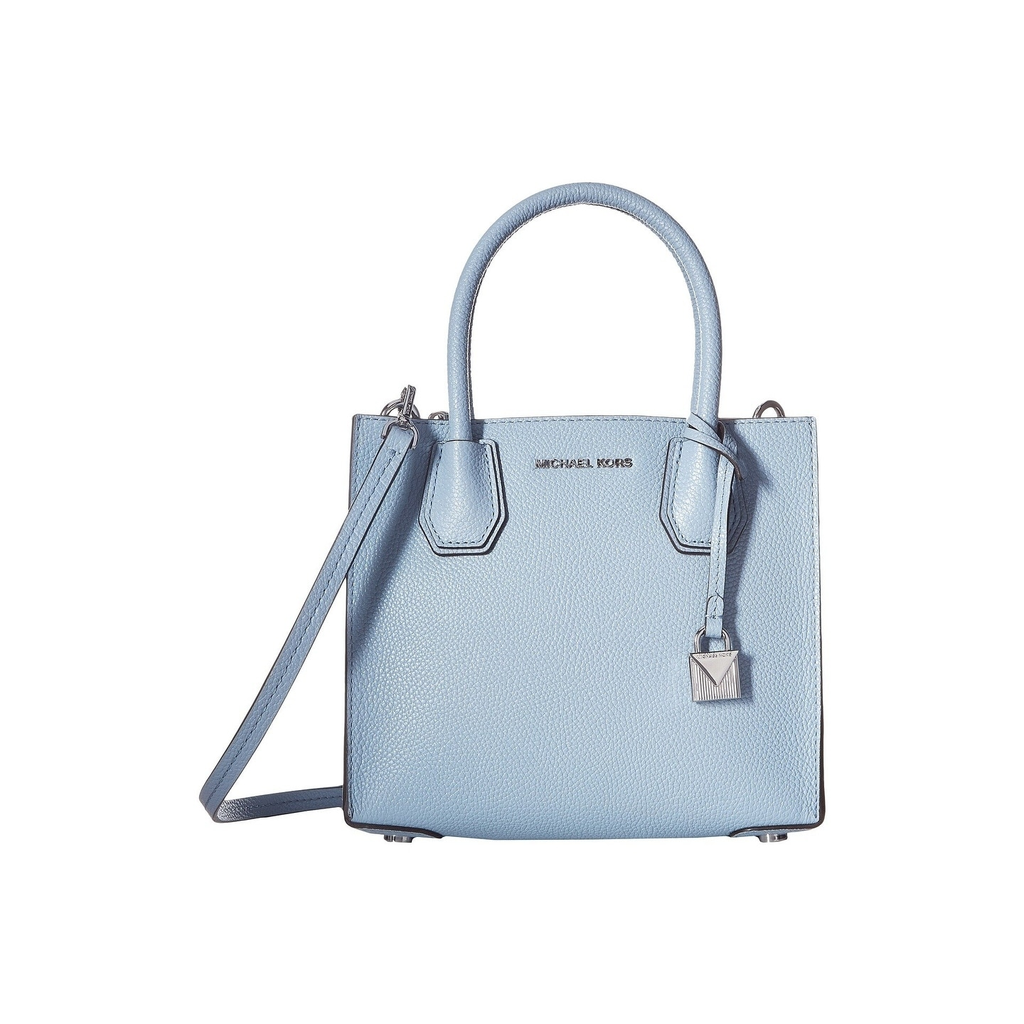 5ca6e61ed967 Shop MICHAEL Michael Kors Mercer Medium Leather Messanger Pale Blue - On  Sale - Free Shipping Today - Overstock - 19883719