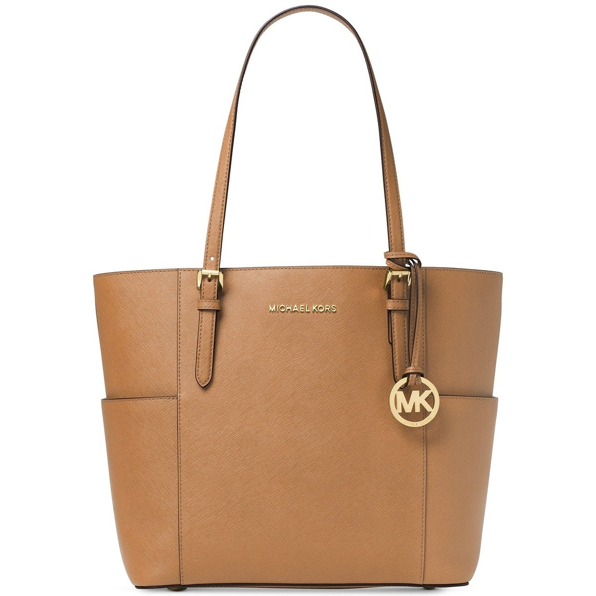 47f555d039cd1 Shop MICHAEL Michael Kors Jet Set Travel Large Tote Acorn - Free ...