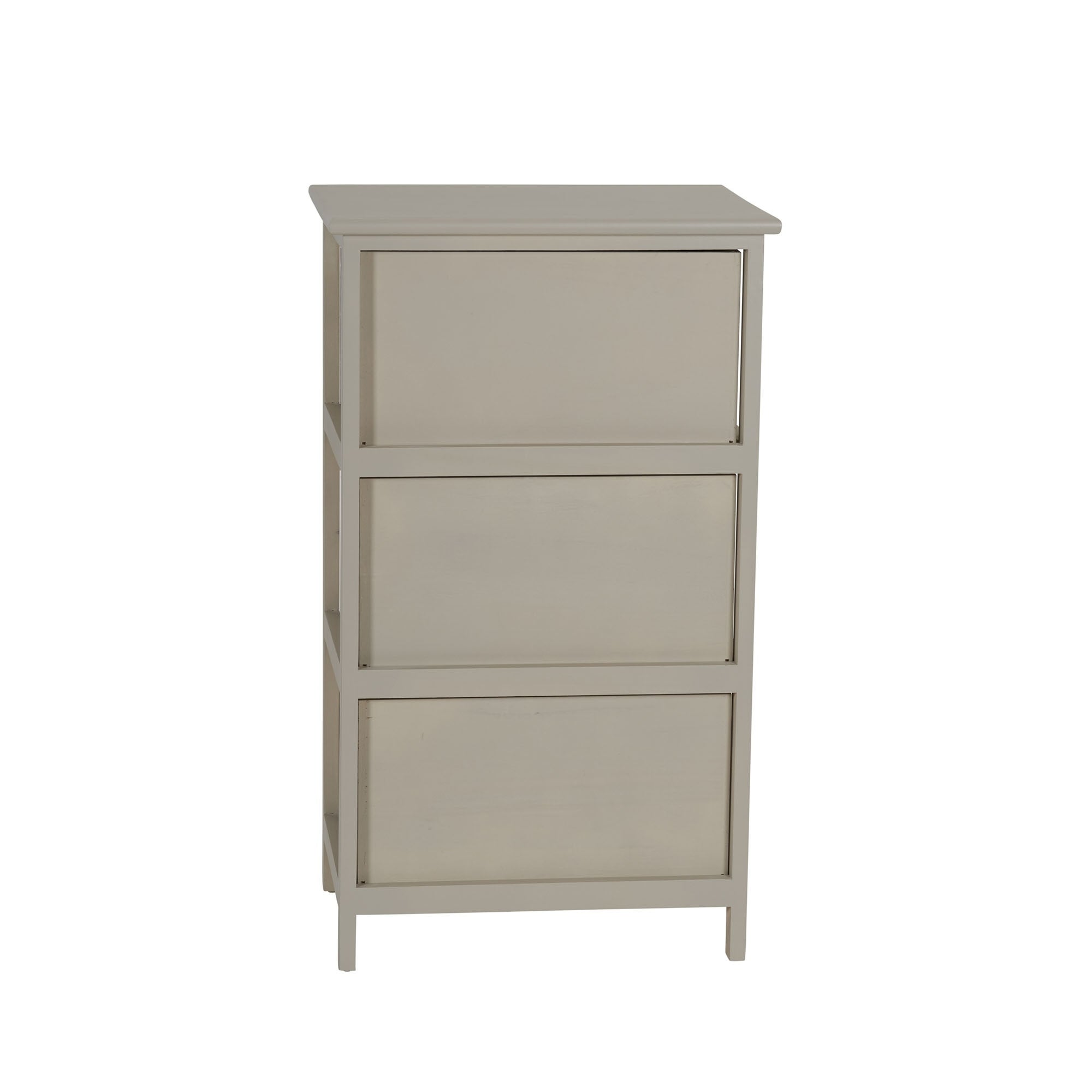 Merveilleux Seaside Grey Wood 3 Drawer Wide Side Table   Free Shipping Today    Overstock.com   25811949