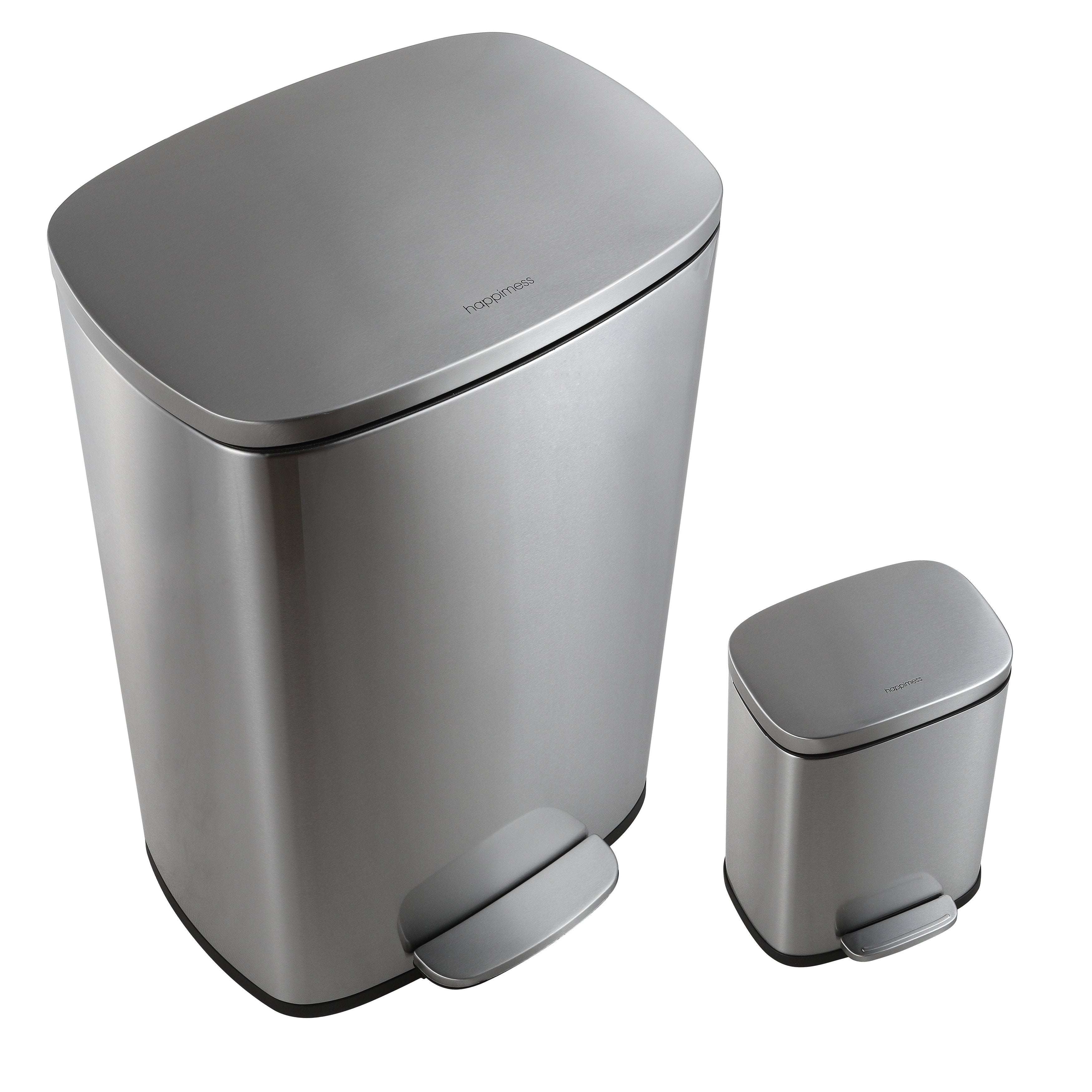 Shop Happimess Connor Rectangular 13 Gallon Trash Can With Soft