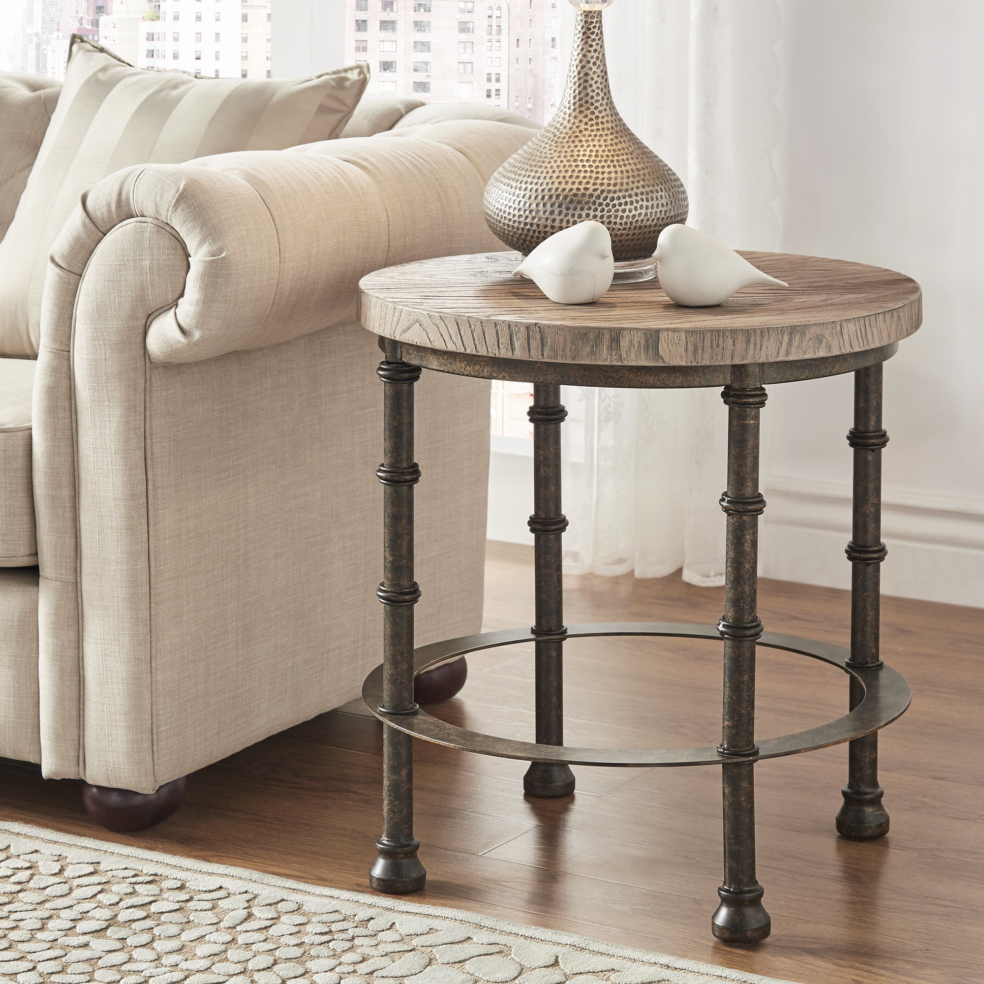 Shop Nori Industrial End Table By INSPIRE Q Artisan