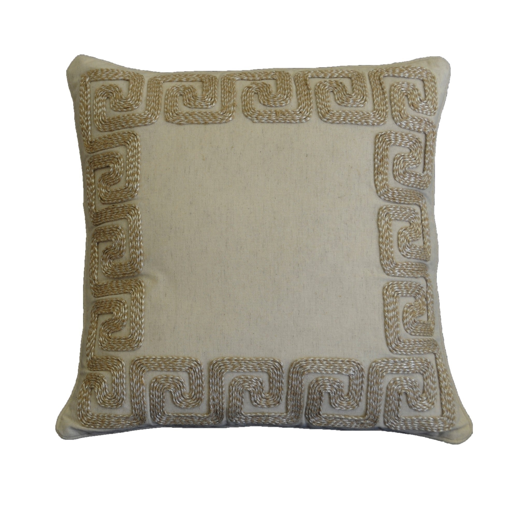 Am Home Greek Key Border Pillow Feather Insert Free Shipping On Orders Over 45 19886898