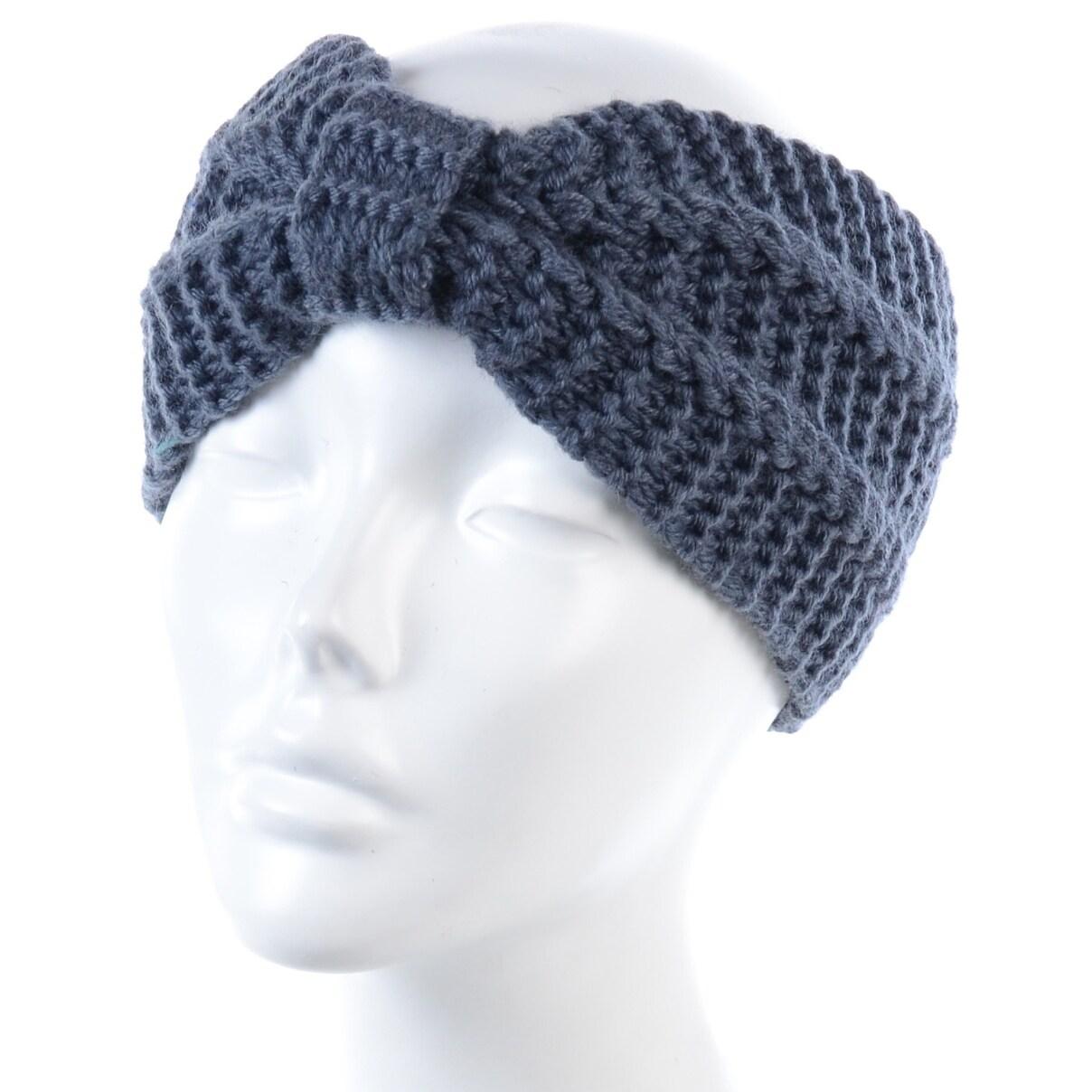 BYOS Womens Winter Fashion Cute Bowknot Crochet Knit Headband ...