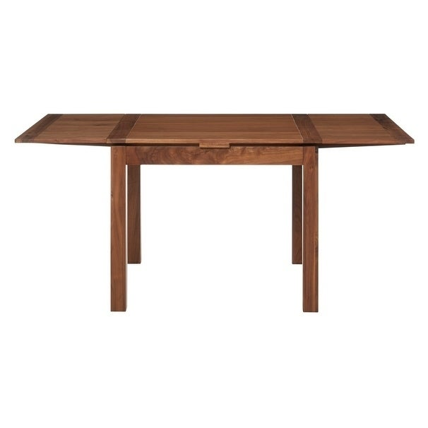 Shop Walnut Modern Square Extendable Dining Table On Sale Free - Modern square extendable dining table