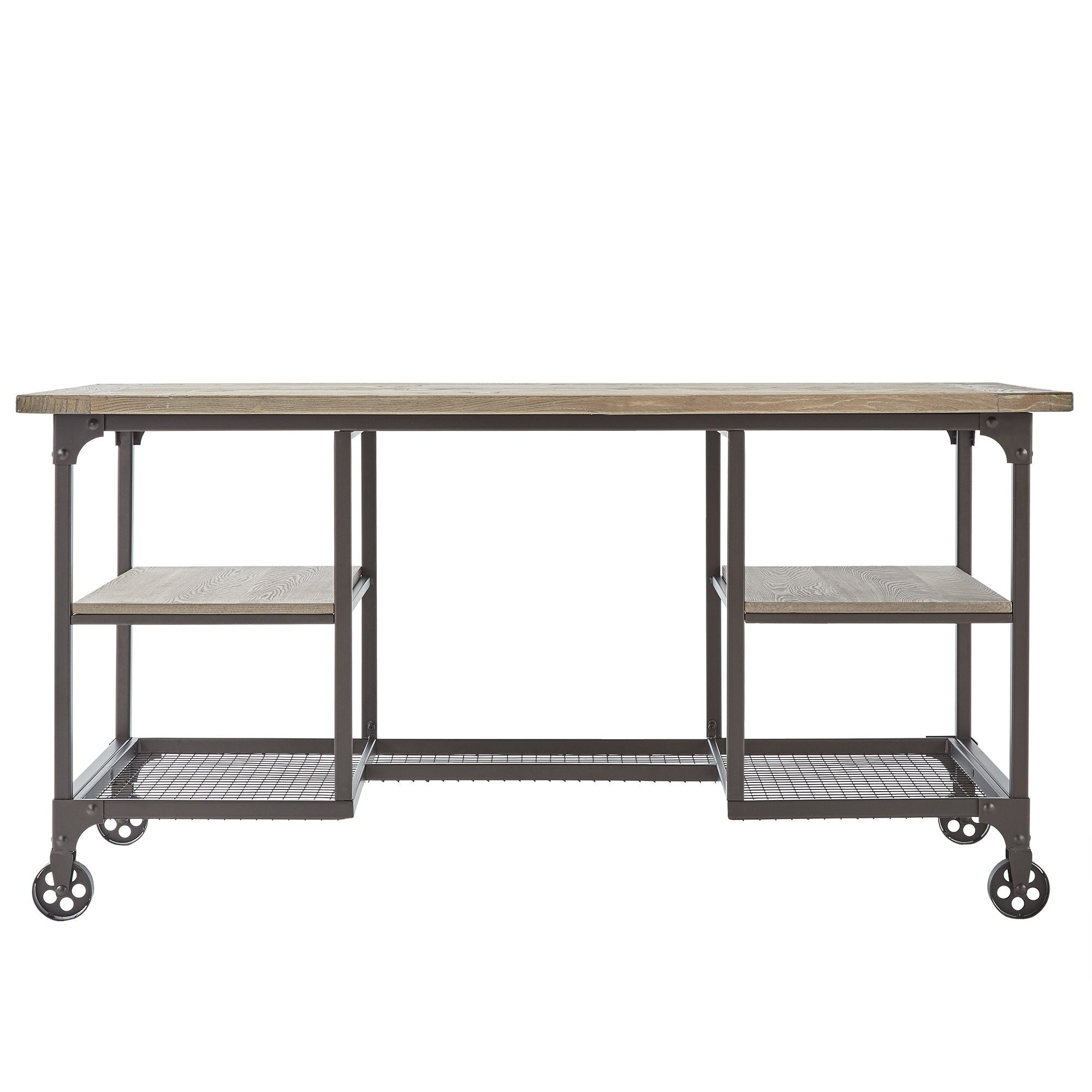 Dania Industrial Open Storage Desk by iNSPIRE Q Classic - Free Shipping  Today - Overstock.com - 25813098