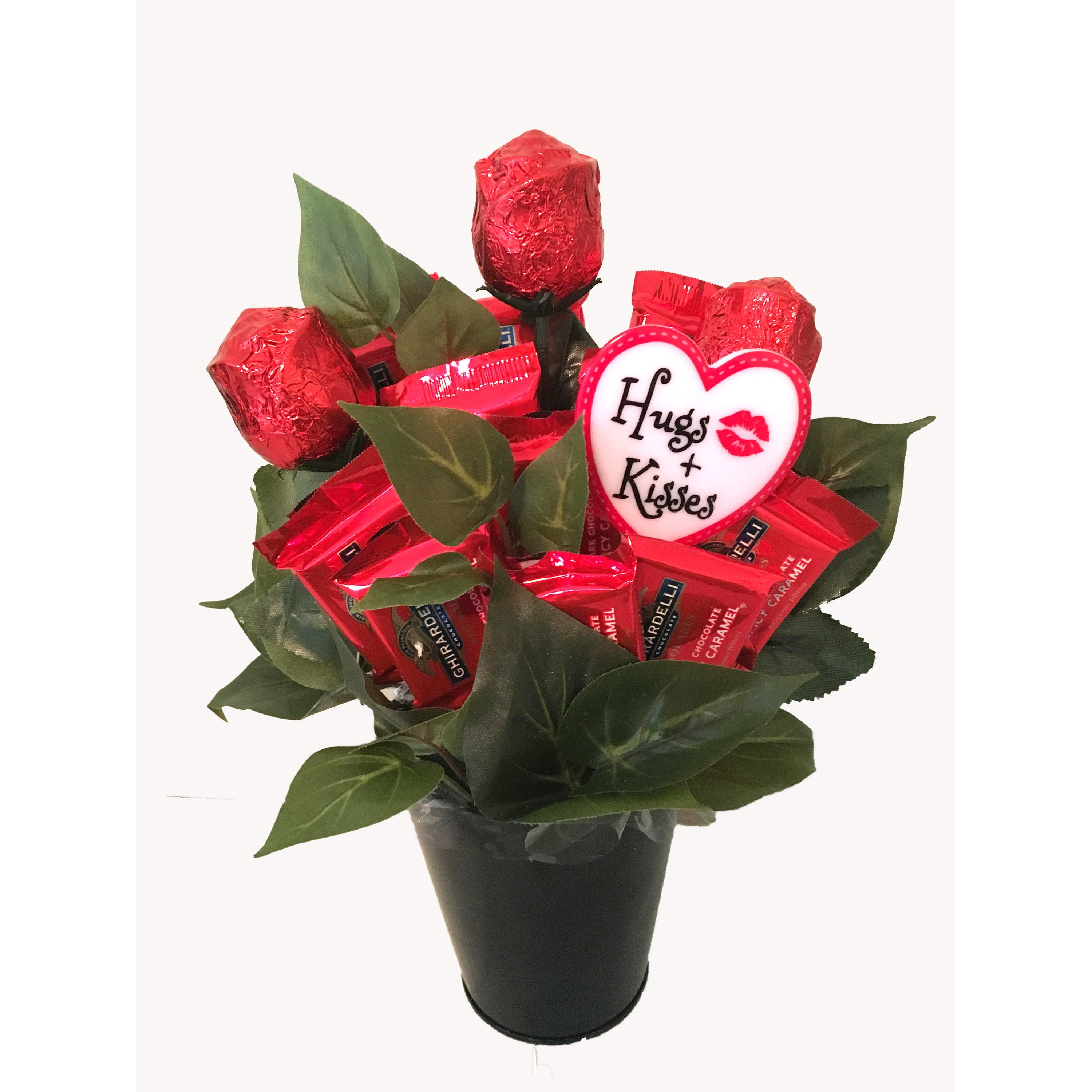 Shop Roses Are Red Ghiradelli Candy Bouquet Free Shipping On