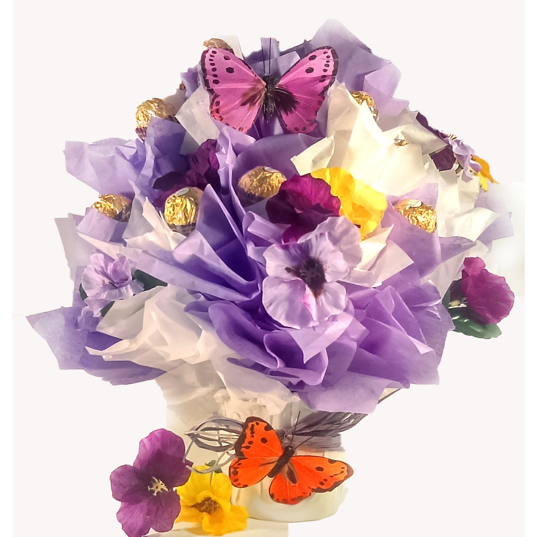 Shop flowers and butterfly rocher chocolate candy bouquet free shop flowers and butterfly rocher chocolate candy bouquet free shipping on orders over 45 overstock 19887758 izmirmasajfo