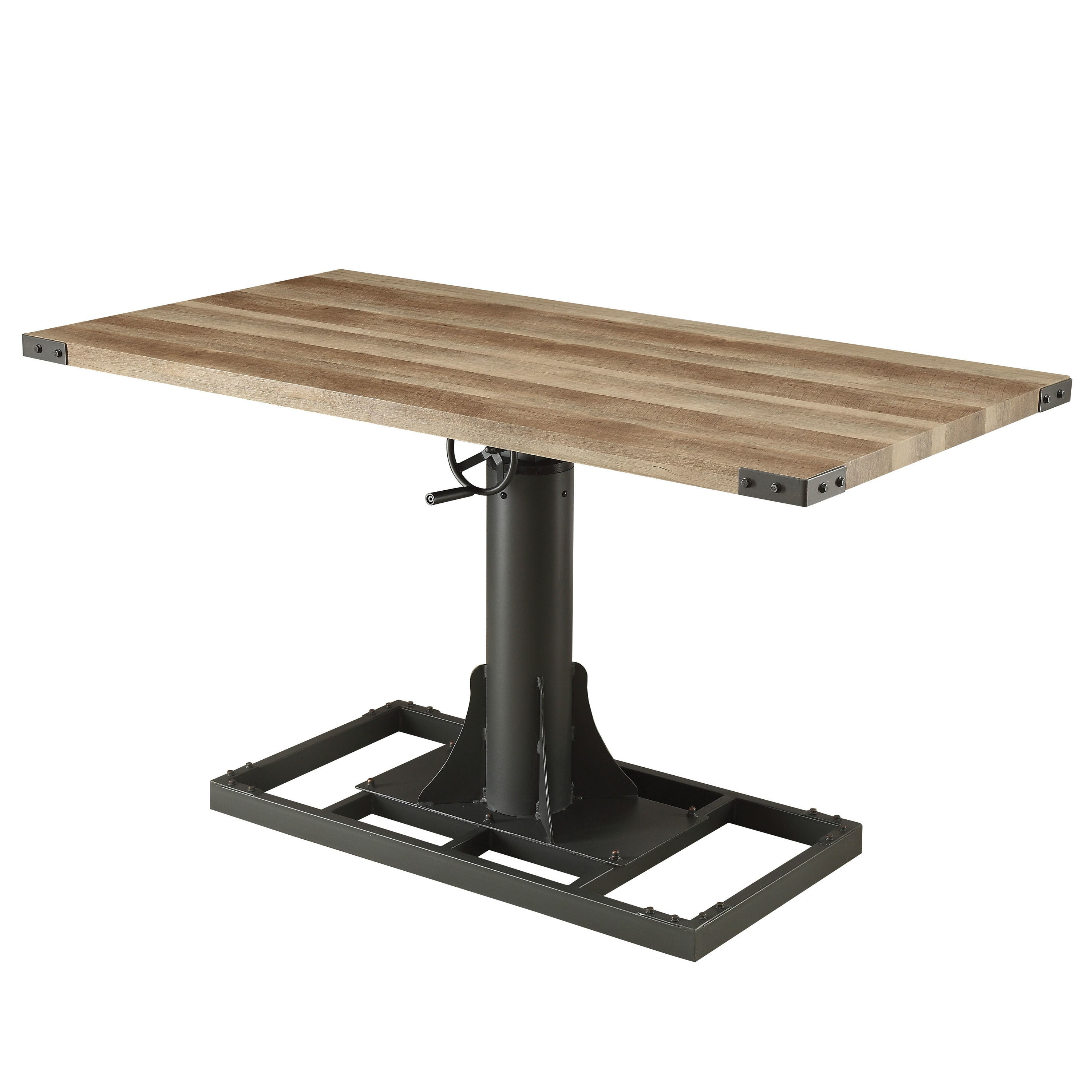 Shop Furniture Of America Malone Industrial Style 58 Inch Height Adjustable  Desk With Outlets   Free Shipping Today   Overstock.com   19891762
