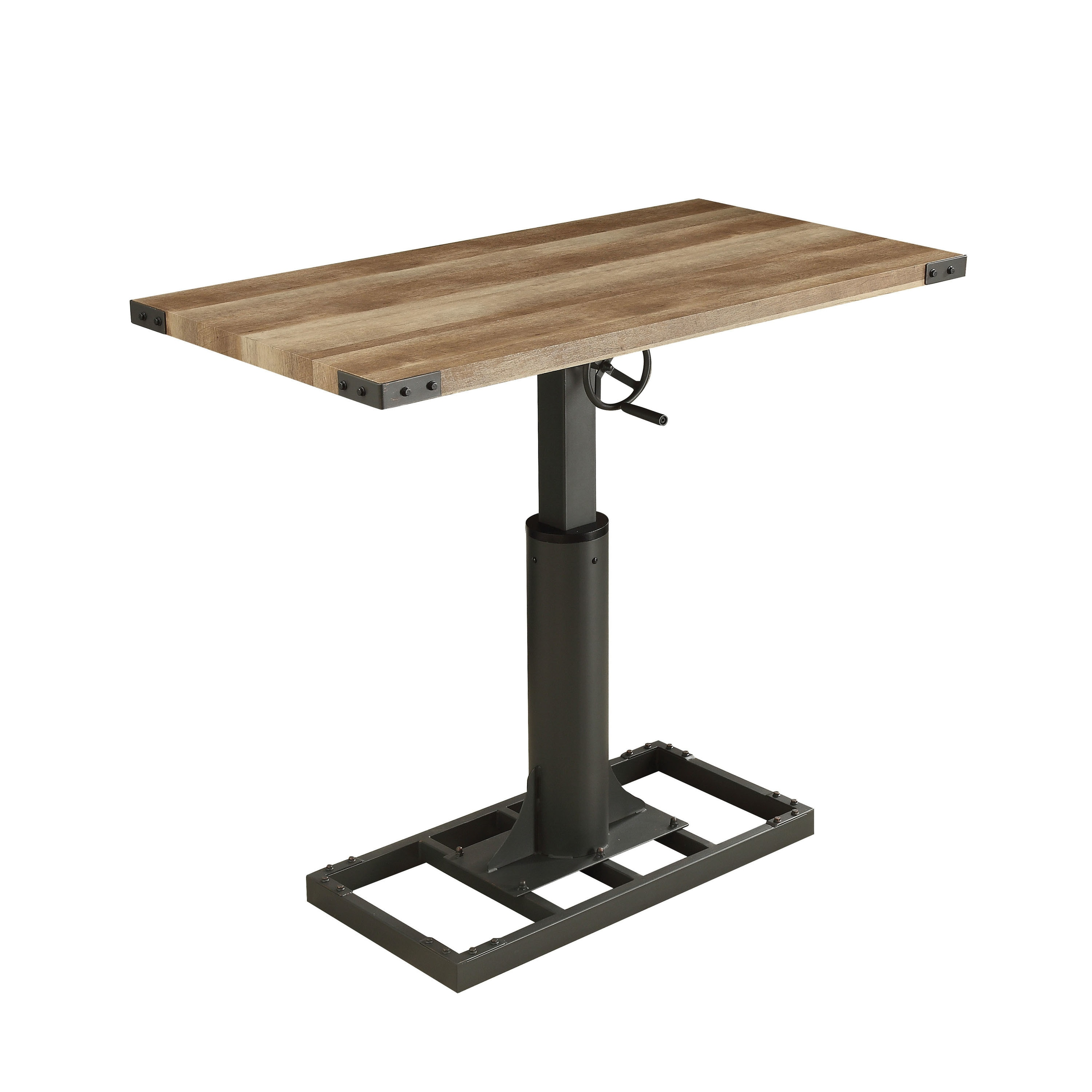 Shop Furniture Of America Malone Industrial Style 48 Inch Height Adjustable  Desk With Outlets   On Sale   Free Shipping Today   Overstock.com   19891767