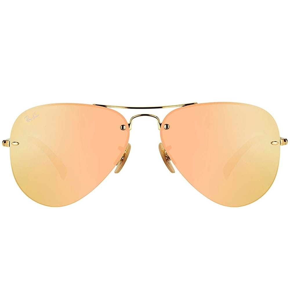 d8fa9f40d5fa6a Shop Ray-Ban Aviator RB 3449 001 2Y Unisex Gold Frame Rose Mirror Lens  Sunglasses - On Sale - Free Shipping Today - Overstock.com - 19892355