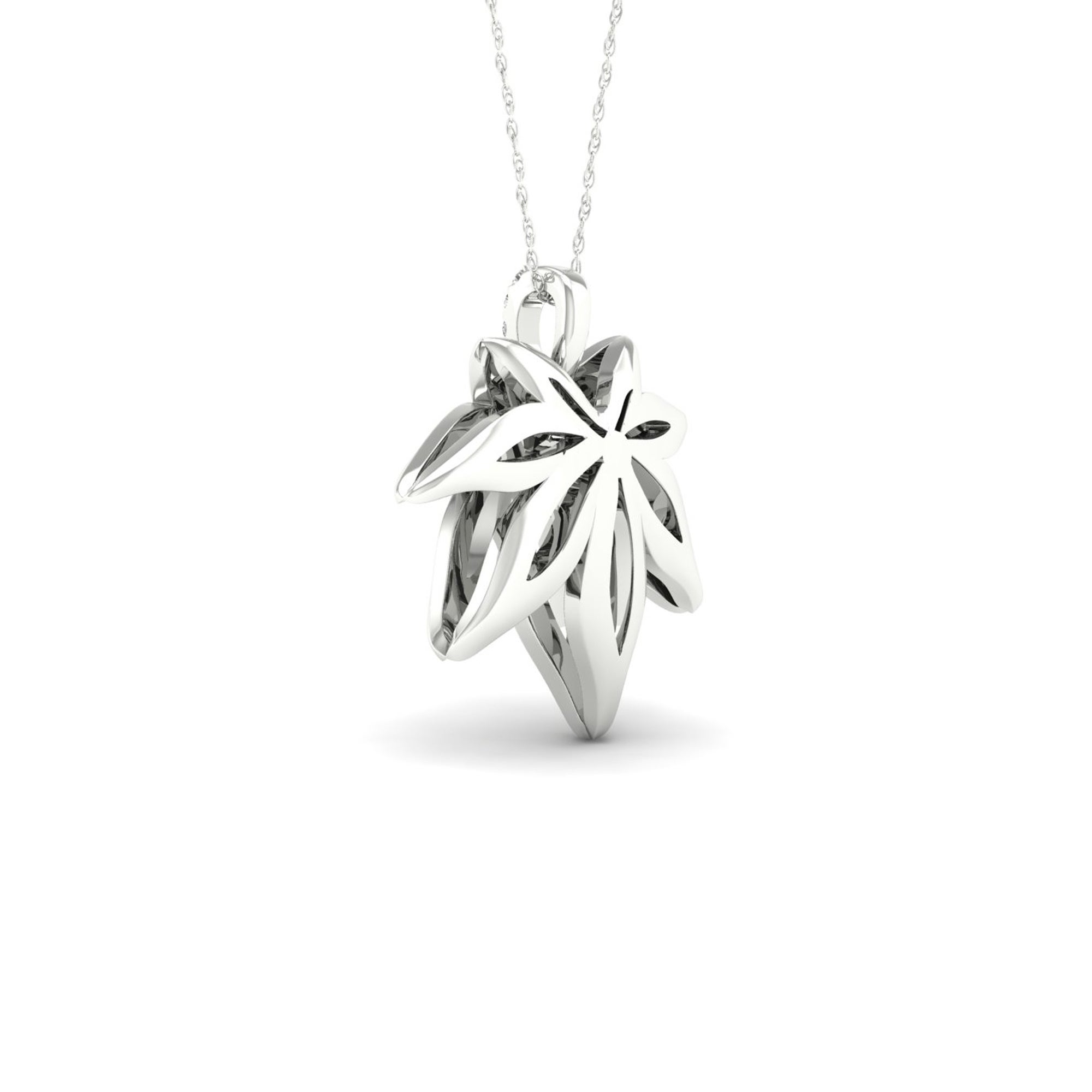 leaves in products real necklace sylvan by antique leaf maple sihaya designs silver